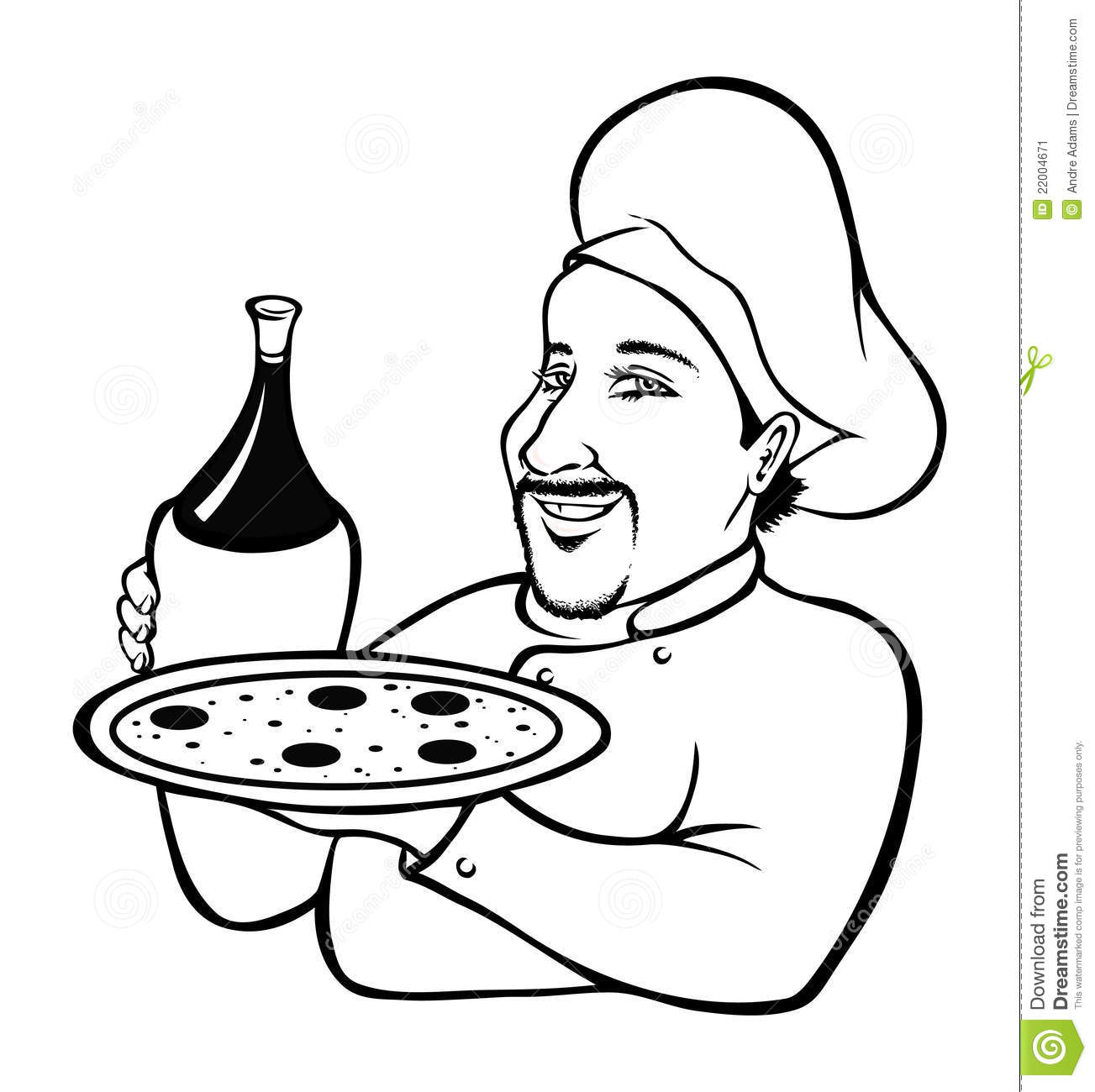 Italian Chef Coloring Book Stock Image - Image: 22004671