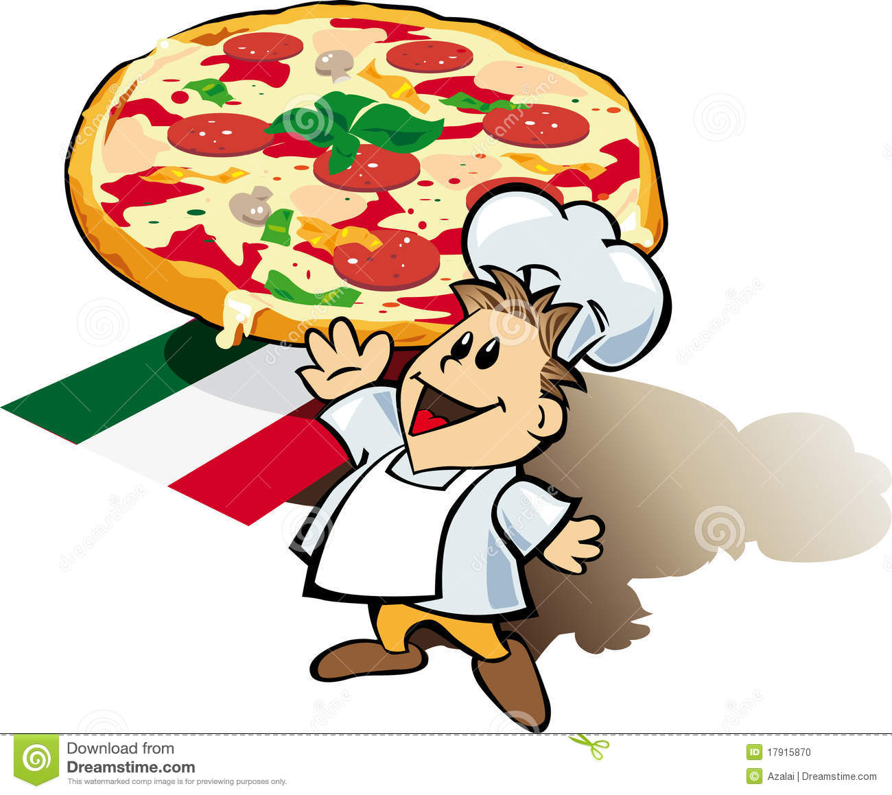 Italian Chef Cook With Pizza Giant Stock Photo - Image: 17915870