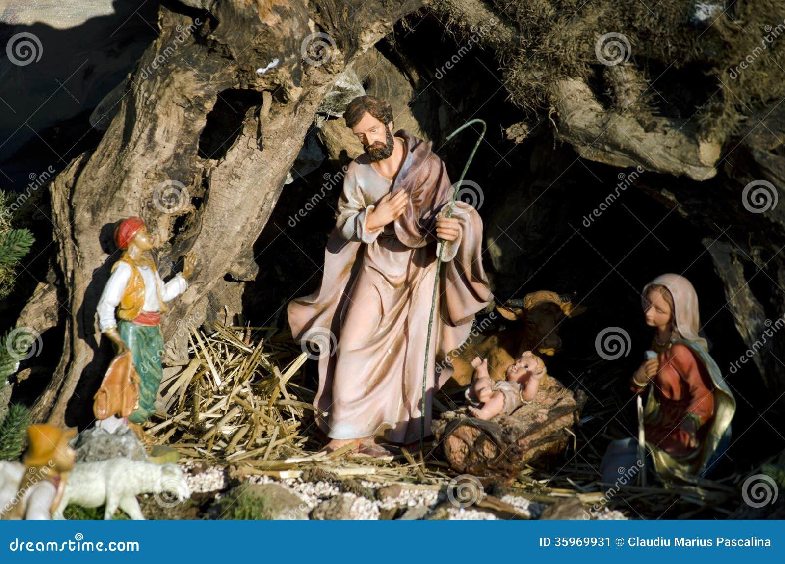 Italian Christmas Crib Stock Image Image Of Festive