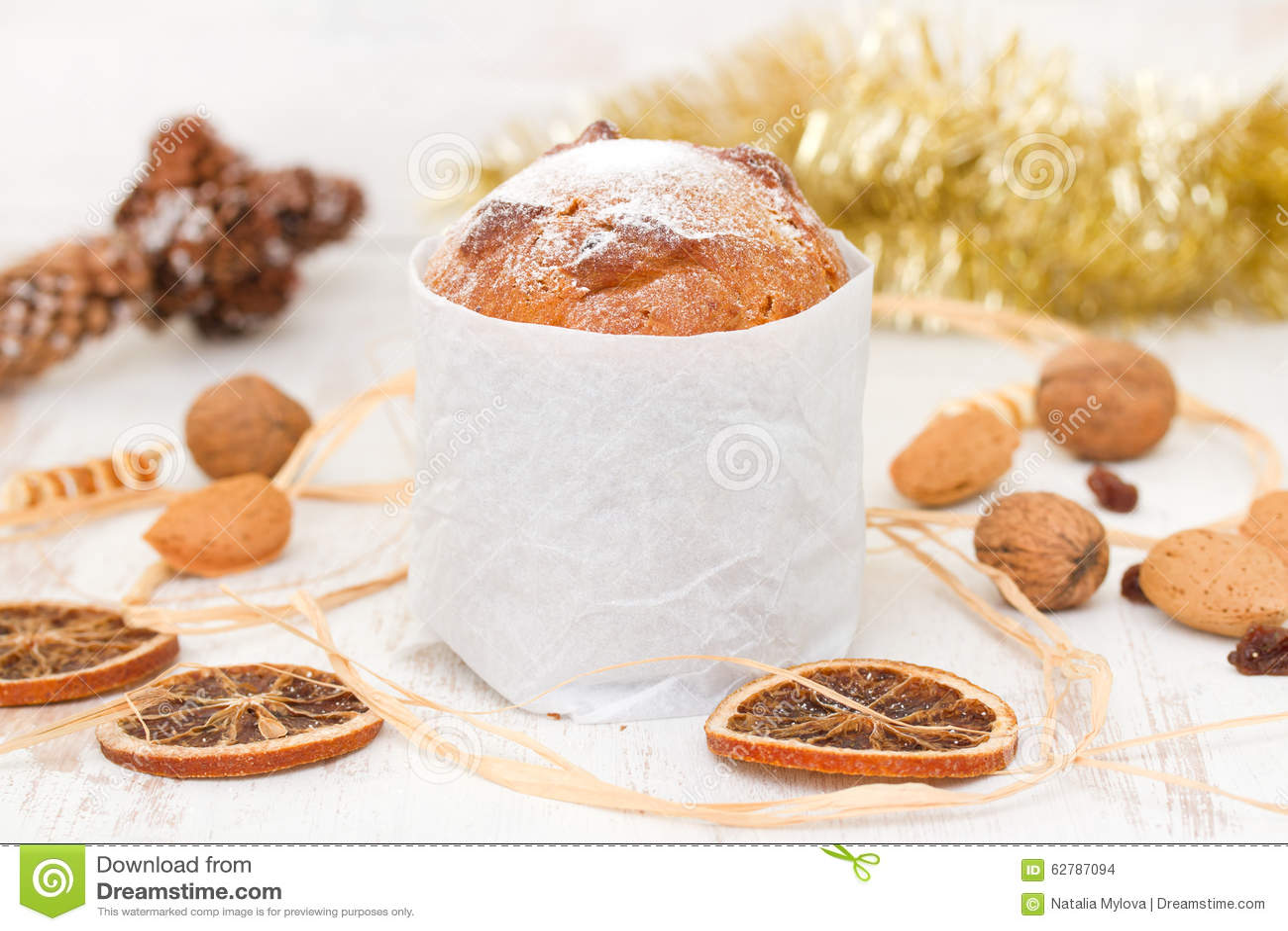 Italian Christmas dessert stock photo. Image of december - 62787094