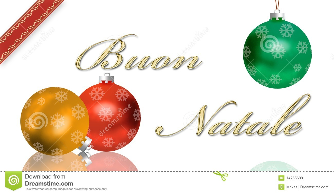 Italian Christmas Greeting Card Stock Illustration - Illustration of ...