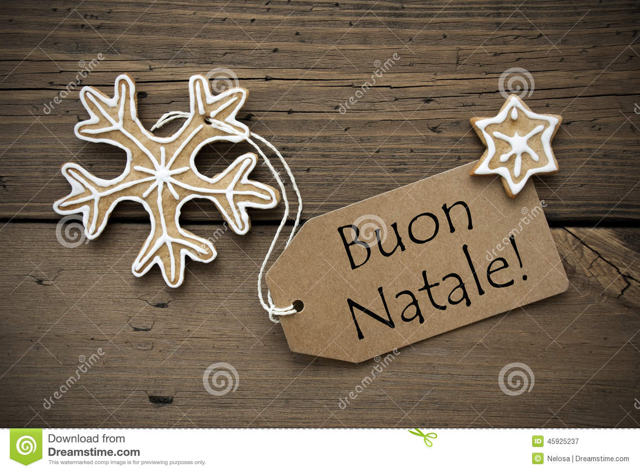 Italian christmas greetings with ginger breads stock image image italian christmas greetings with ginger breads kristyandbryce Images