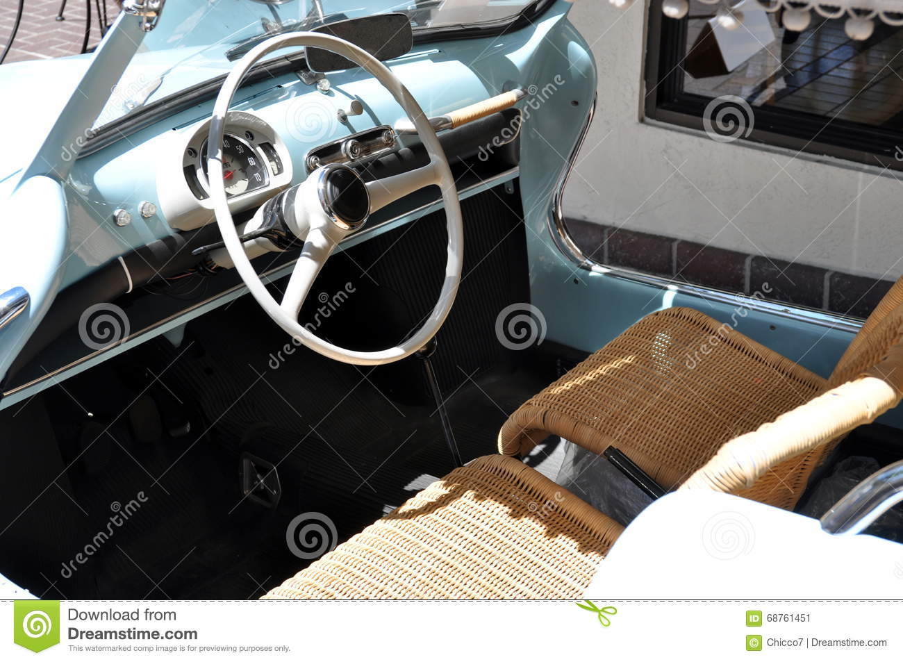 classic car interior royalty free stock photography 85984175. Black Bedroom Furniture Sets. Home Design Ideas