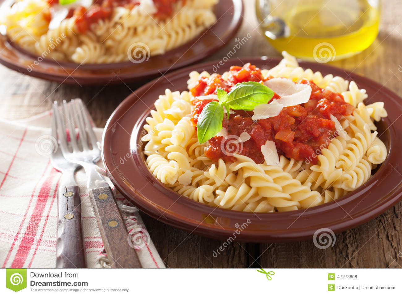 Fusilli With Tomato-Basil Sauce Recipes — Dishmaps
