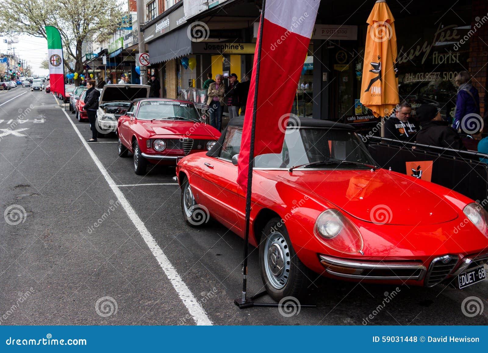 Italian Classic Sports Cars In A Car Show Editorial Stock Photo