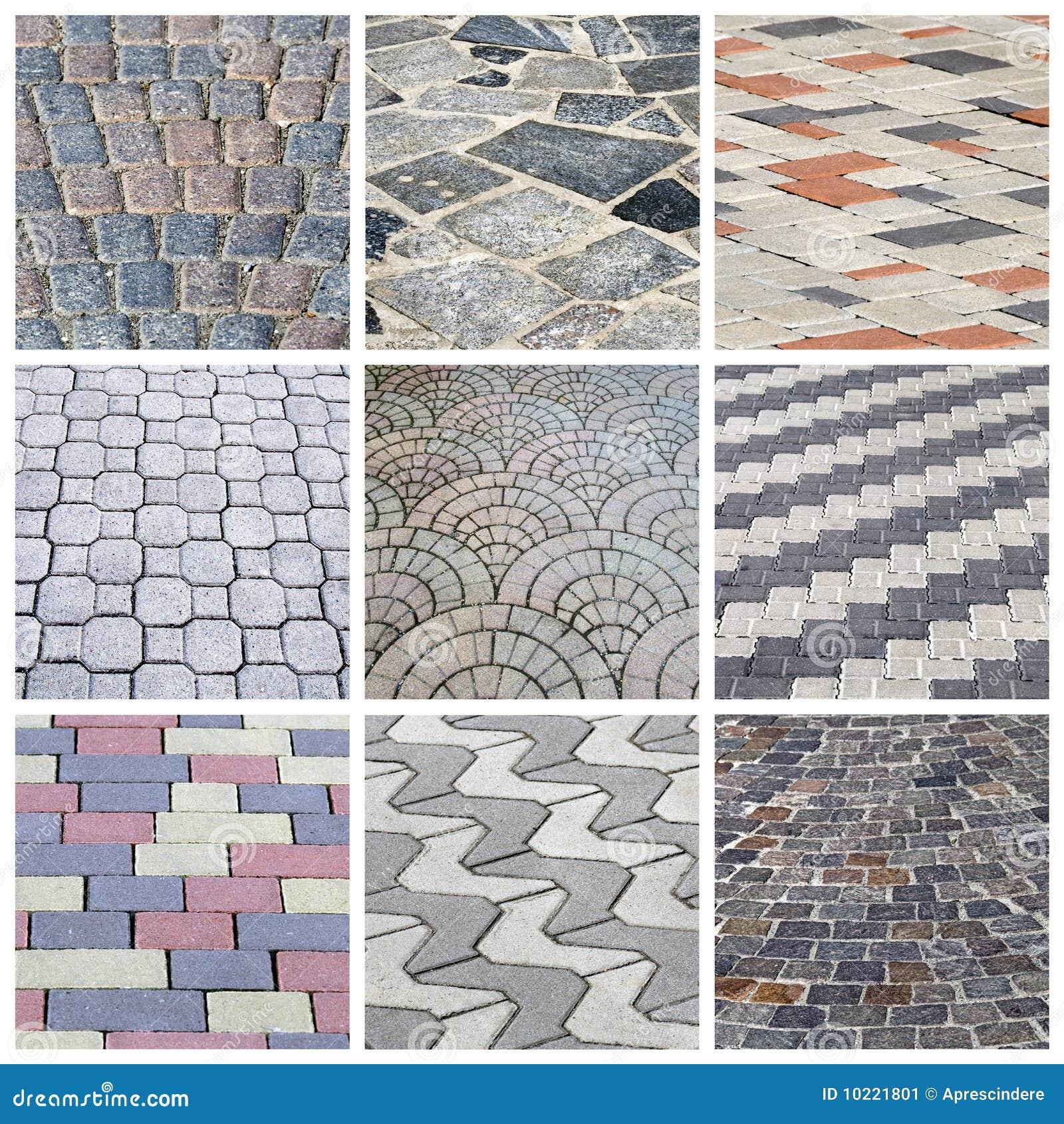 Italian cobbleston - collage