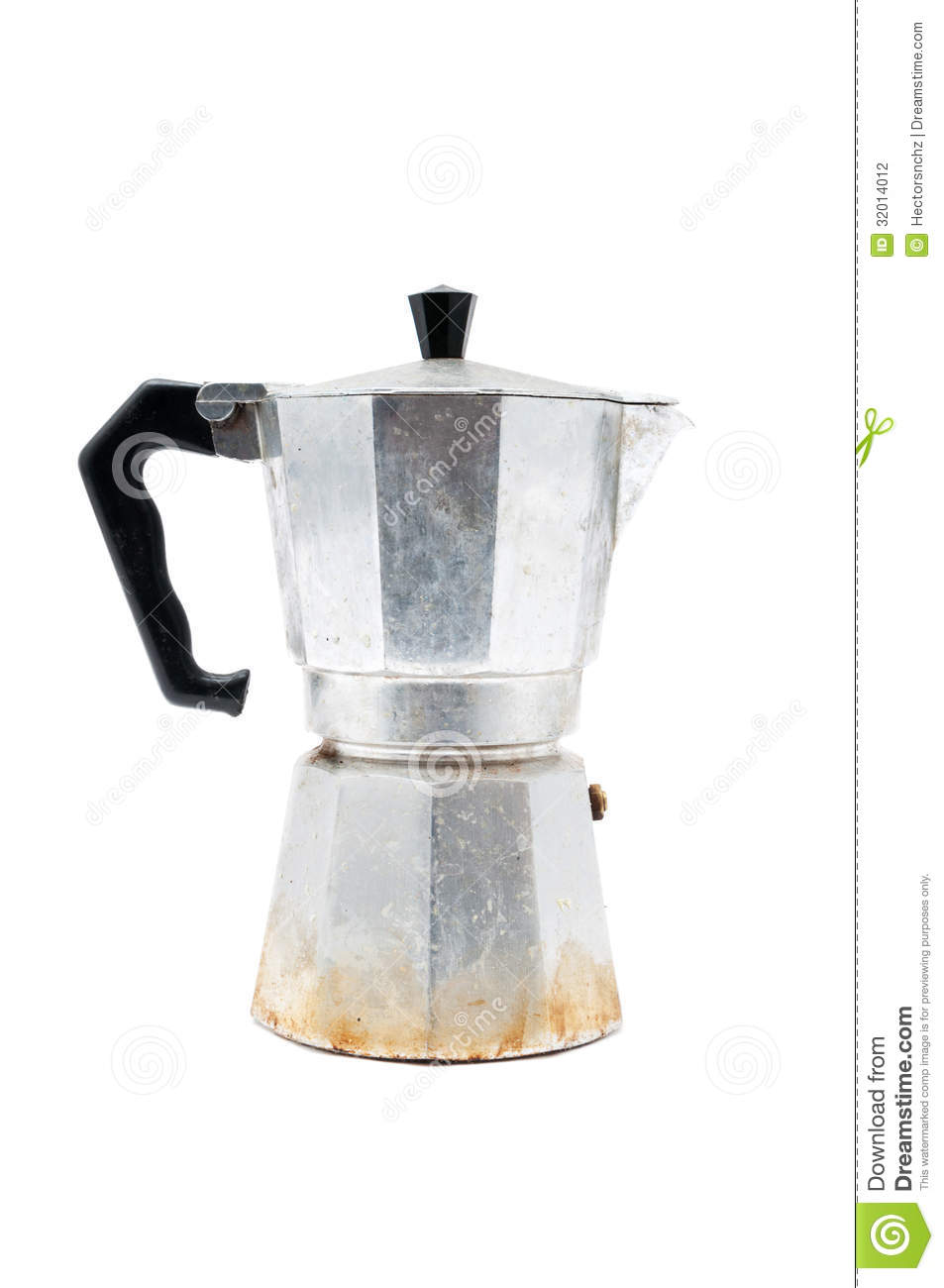 Italian Coffee Maker How To : Italian Coffee Maker Stock Photography - Image: 32014012
