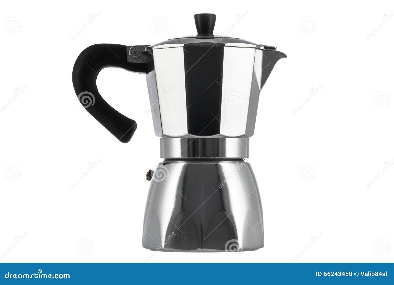 Italian Coffee Maker Vector : Italian Coffee Maker Isolated On White Stock Photo - Image: 66243450