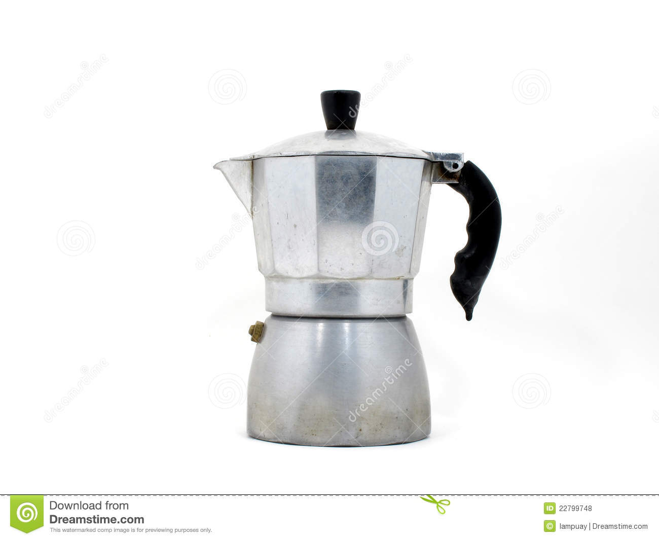 Italian Coffee Maker Stuck : Italian Coffee Maker (moka Pot) Royalty Free Stock Photos - Image: 22799748