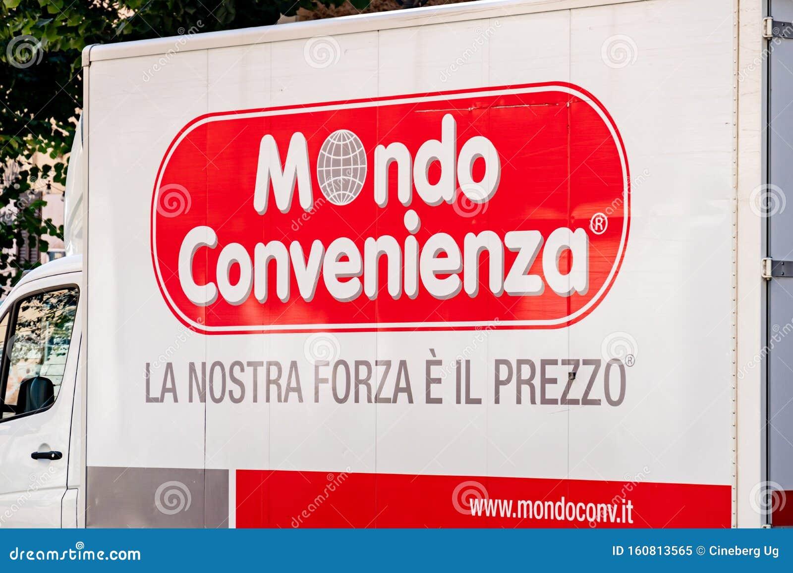 Italian Company Mondo Convenienza Delivery Van Editorial Image Image Of Label Merchandise 160813565