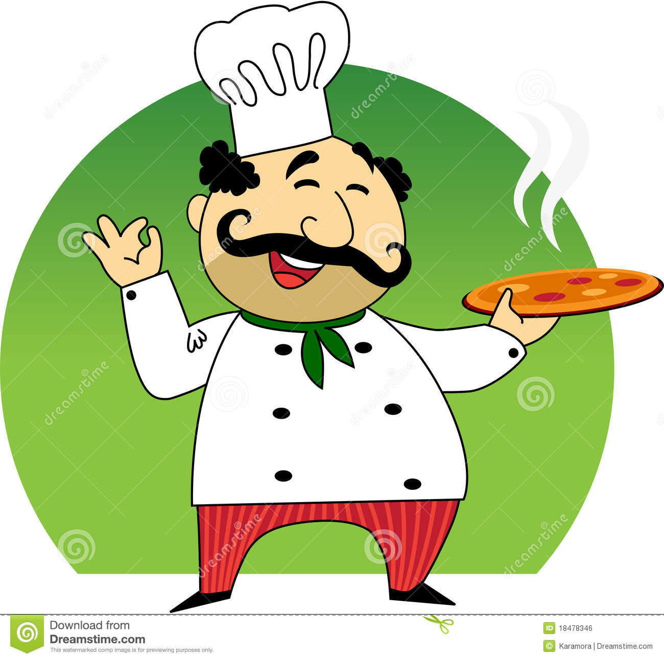 Italian Cook Stock Vector Illustration Of Cute Quickly