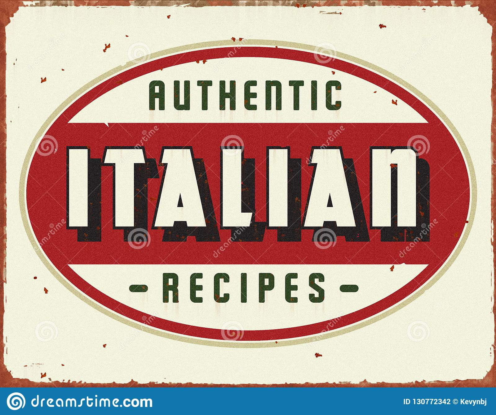 Italian Cooking Vintage Tin Sign Stock Photo - Image of meatballs
