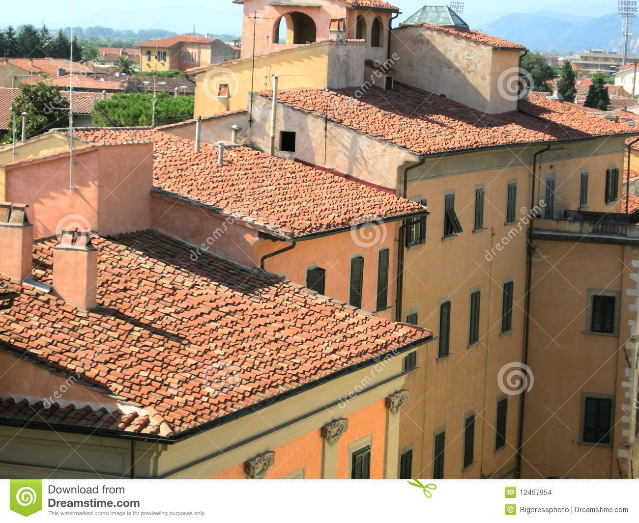 Italian Country Village Homes Stock Images Image 12457954