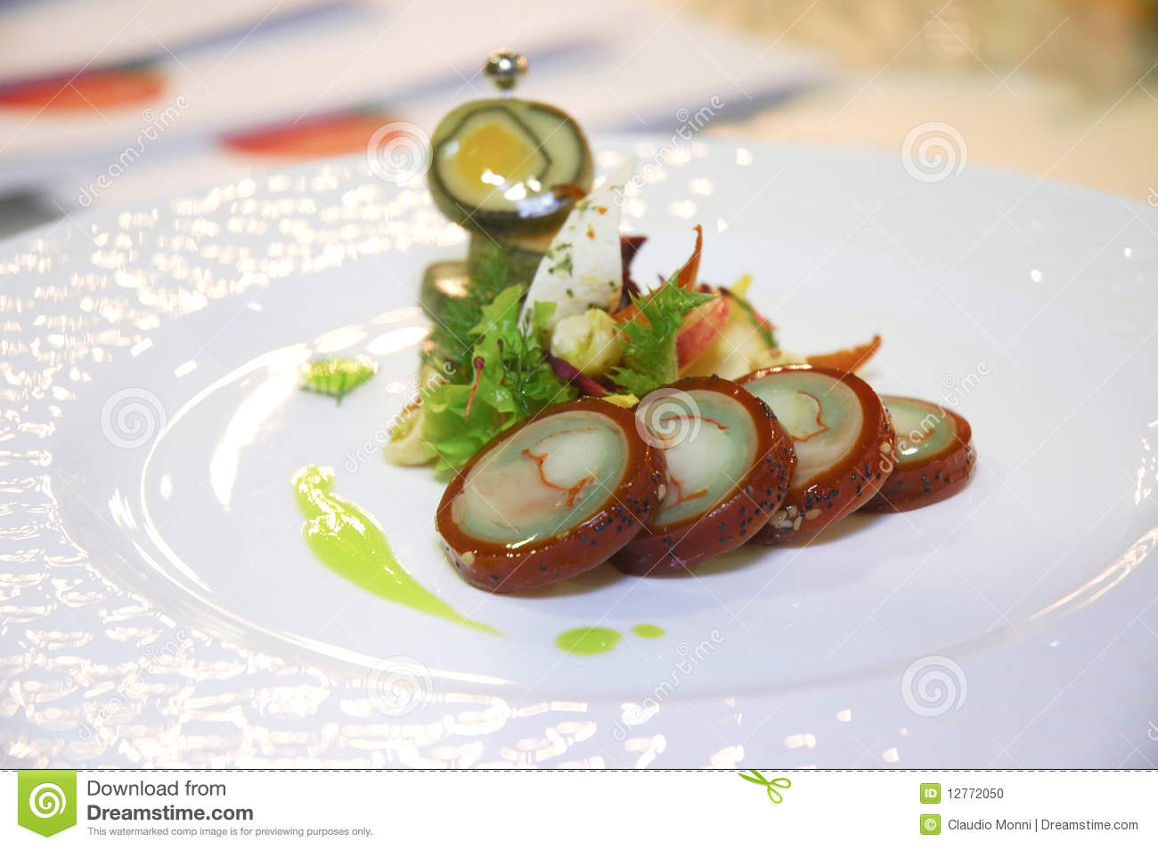 Italian cuisine stock photo image of serving italian for Nouvelle cuisine