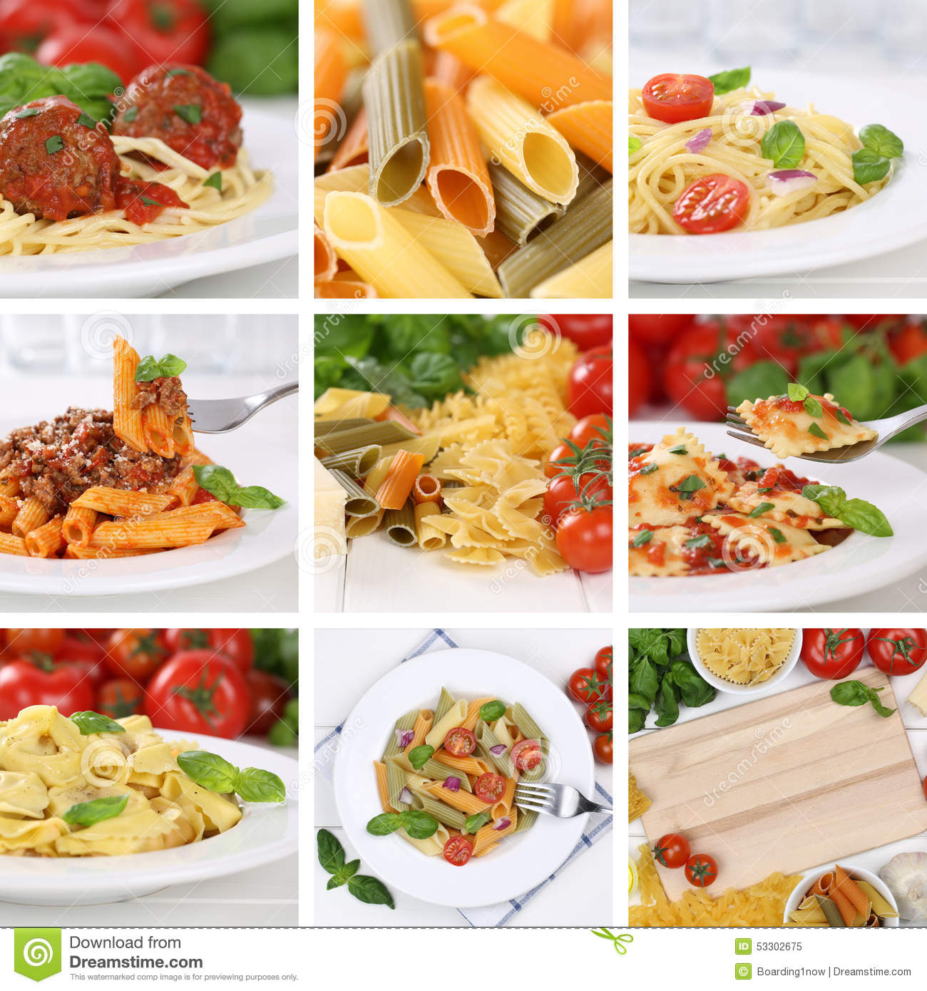 Italian cuisine collection of ingredients for a spaghetti - Italian cuisine pasta ...