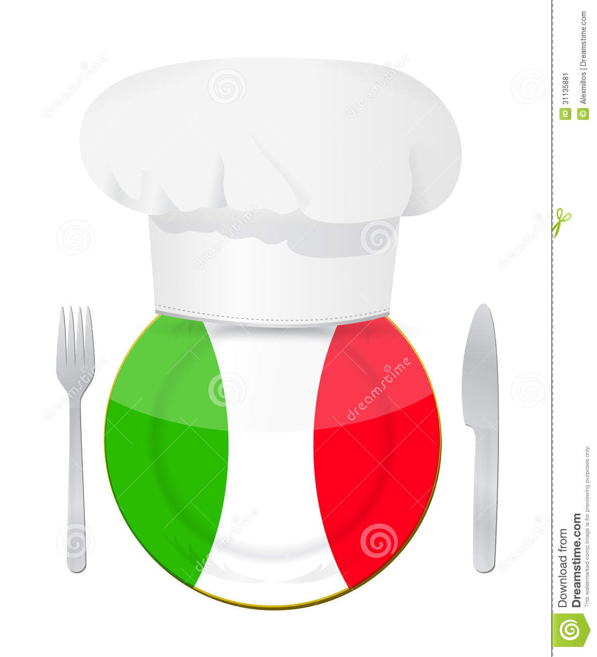 Italian cuisine concept illustration design stock image for Design cuisine