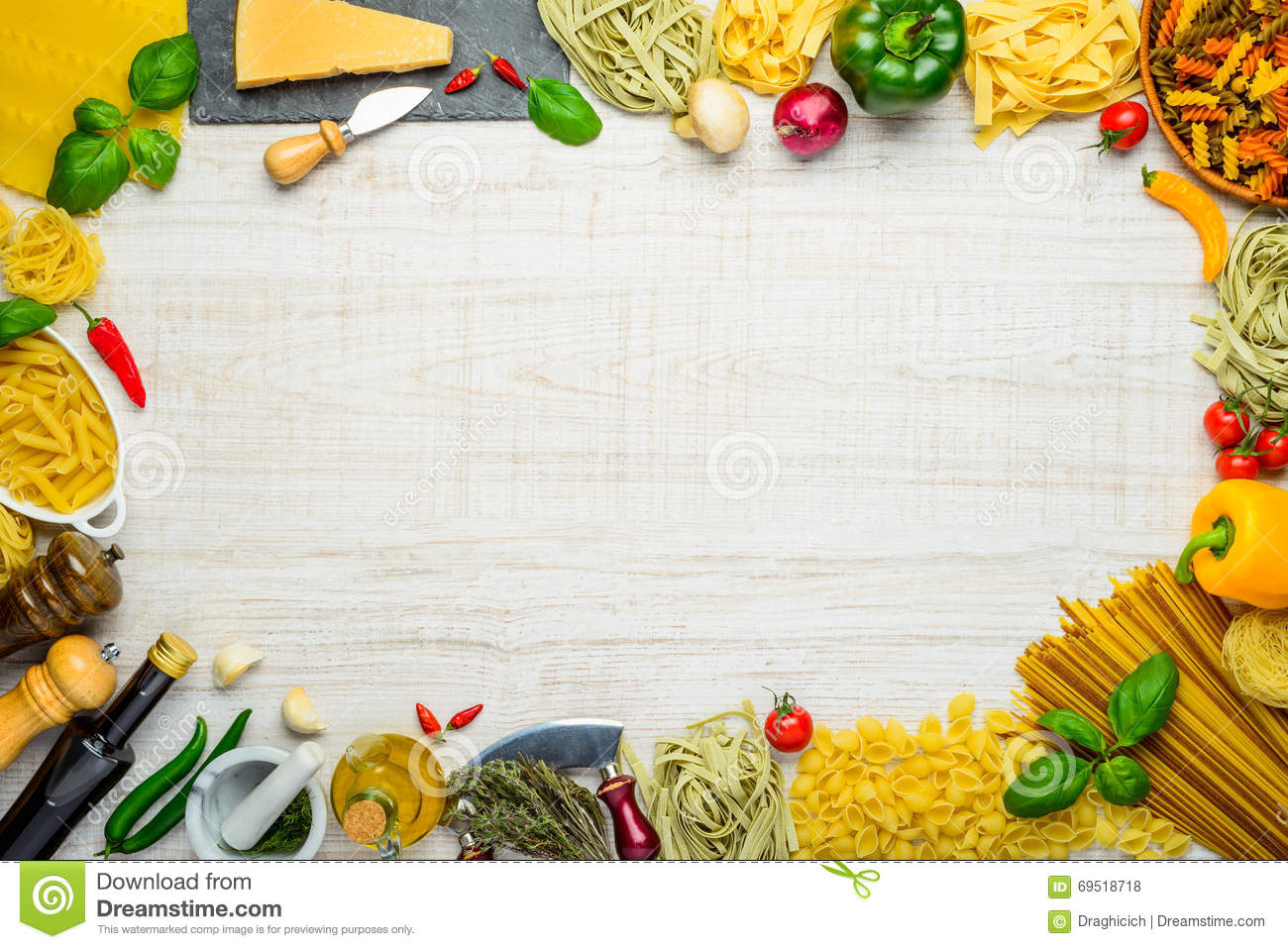 Italian Cuisine Copy Space Frame Stock Photo - Image: 69518718