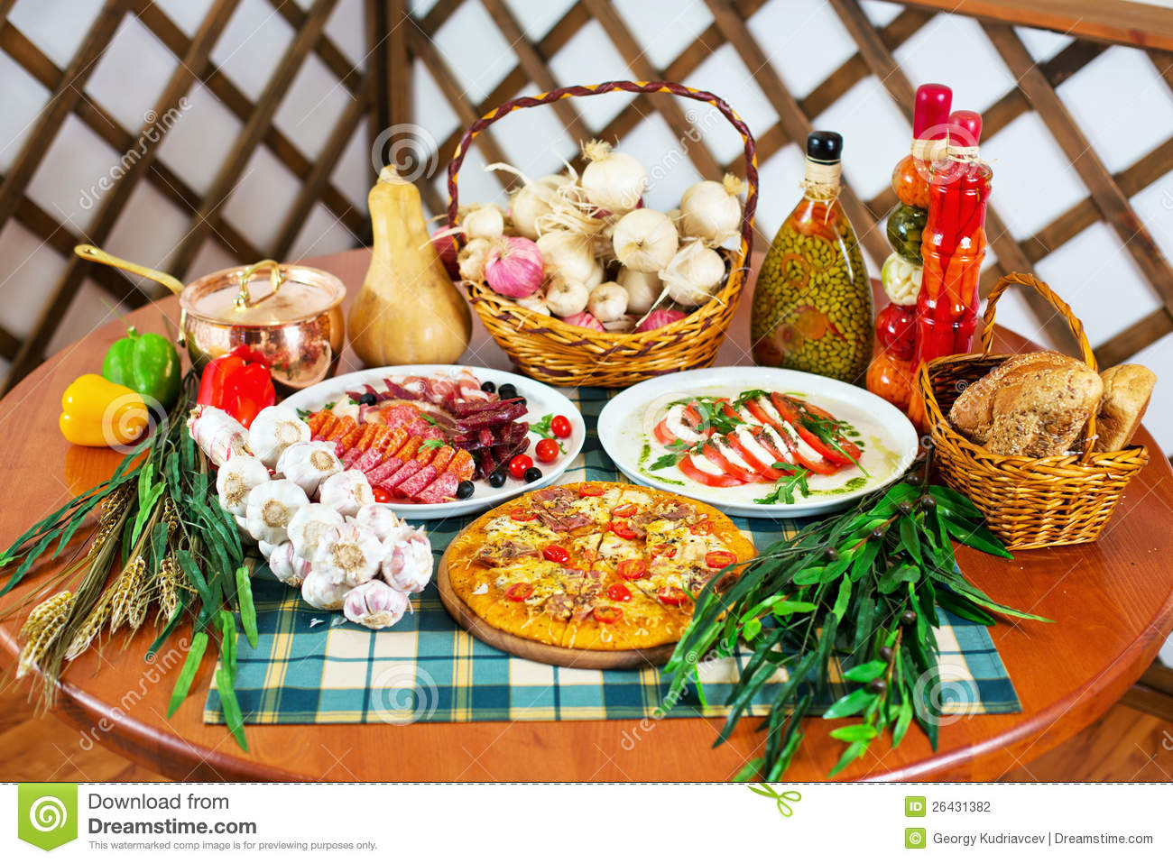 Italian cuisine still life stock photo image 26431382 for About italian cuisine