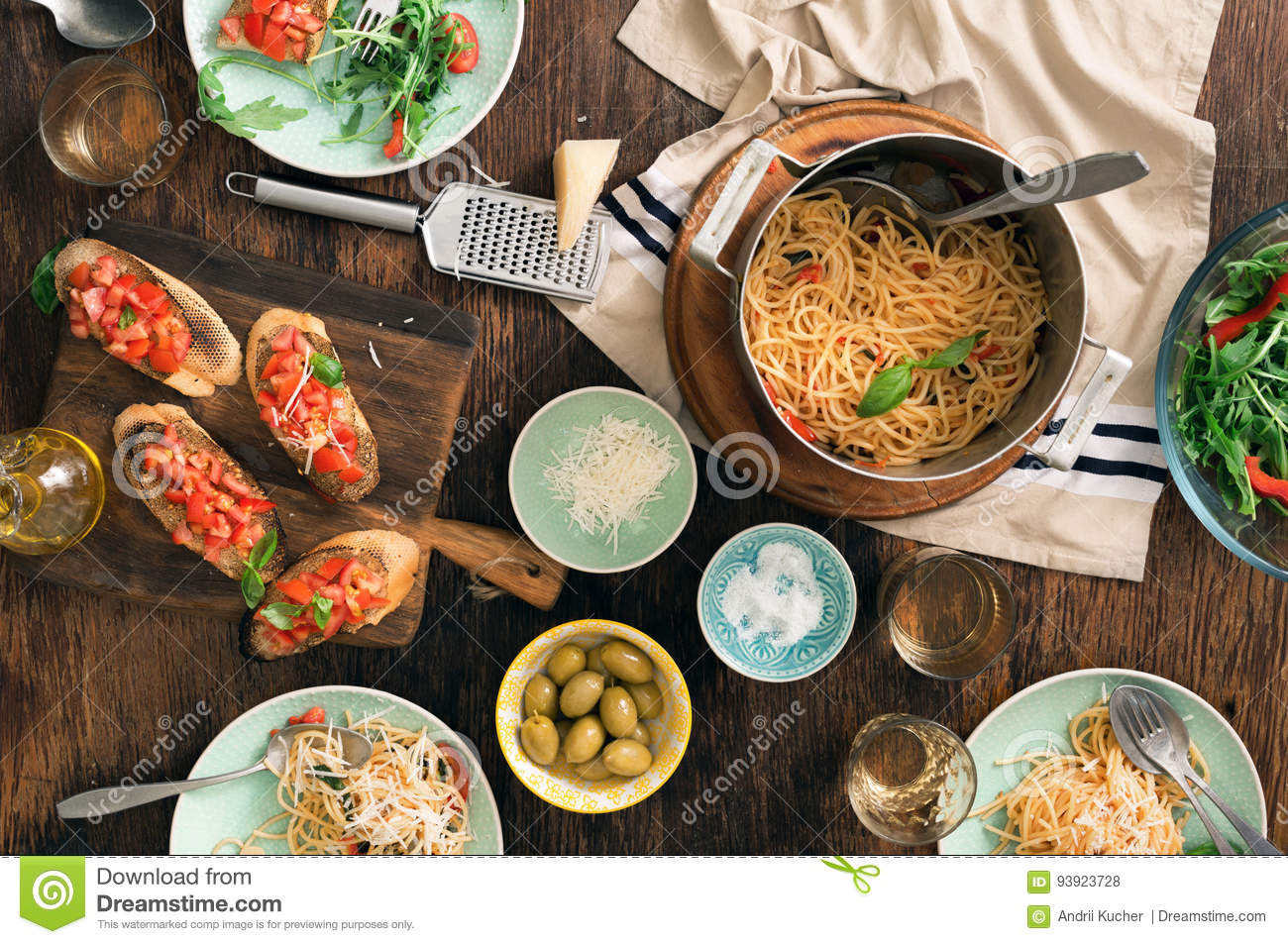 Charming Royalty Free Stock Photo. Download Italian Dinner Table ...