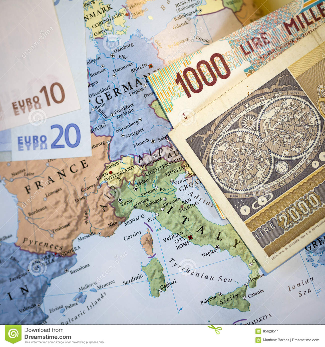 Italian Euro Currency Exit Concept Editorial Photo - Image of ...