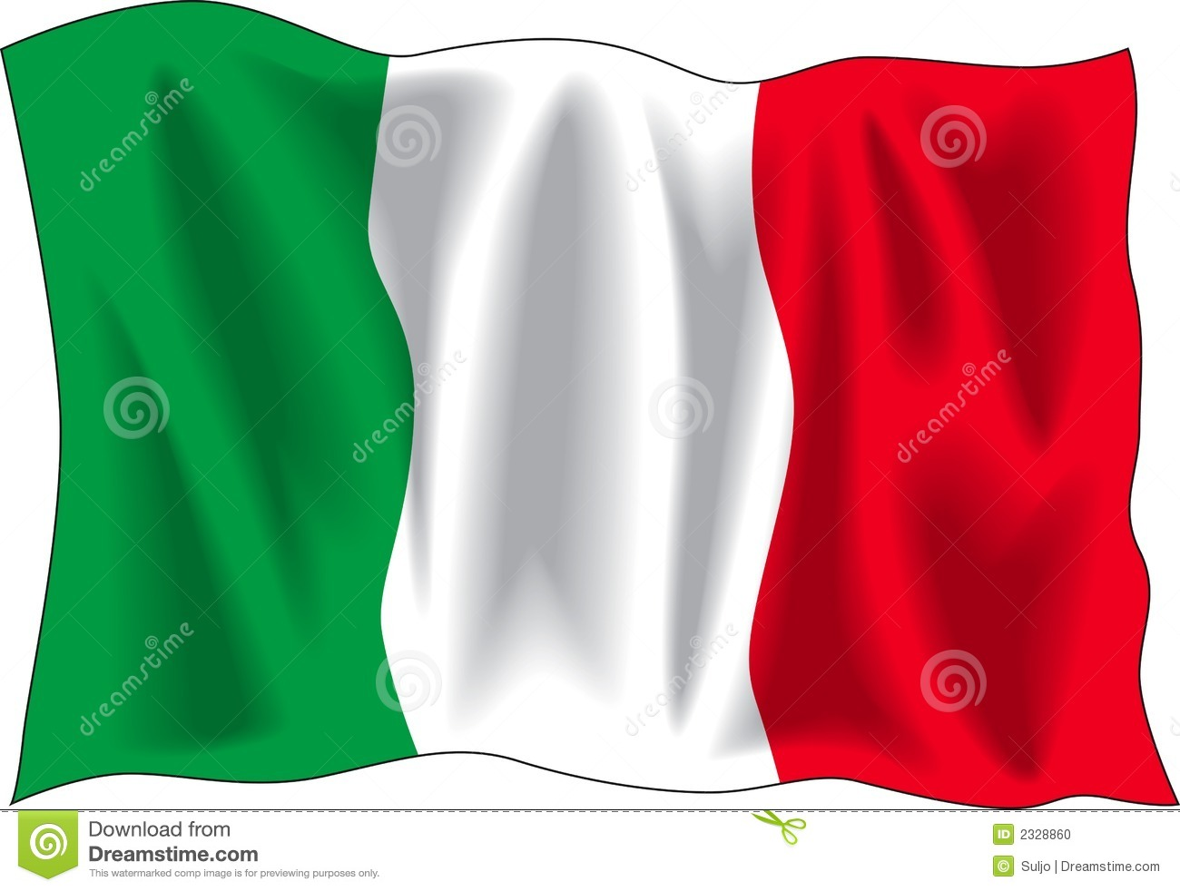 Free Waving Italian Flag Clip Art Waving flag of italian