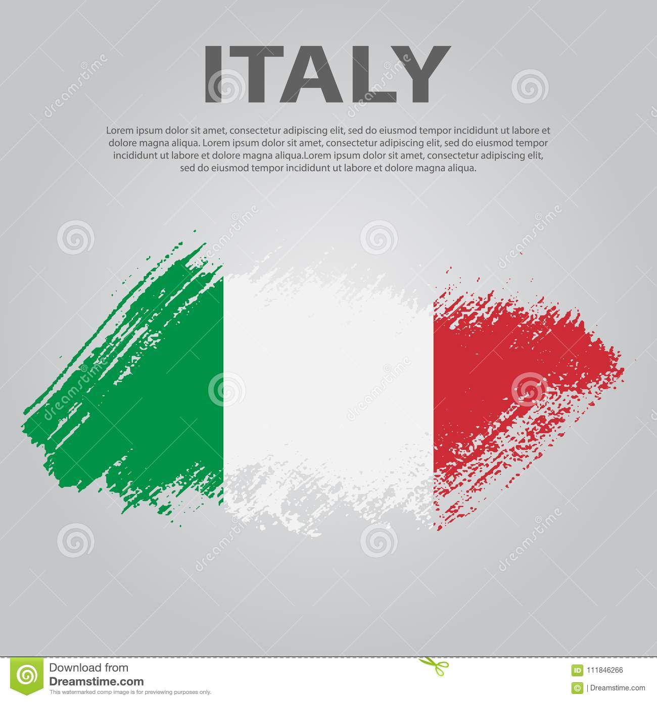 Italian flag flag of italy brush stroke background stock vector download comp ccuart Images