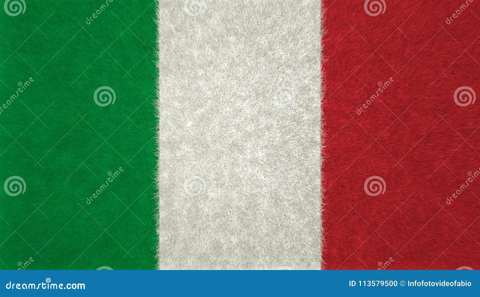 Italian Flag Green White And Red 3d Image Stock Illustration
