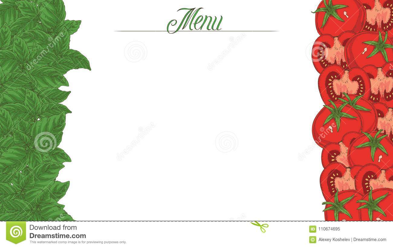 italian flag. menu template stock illustration - illustration of