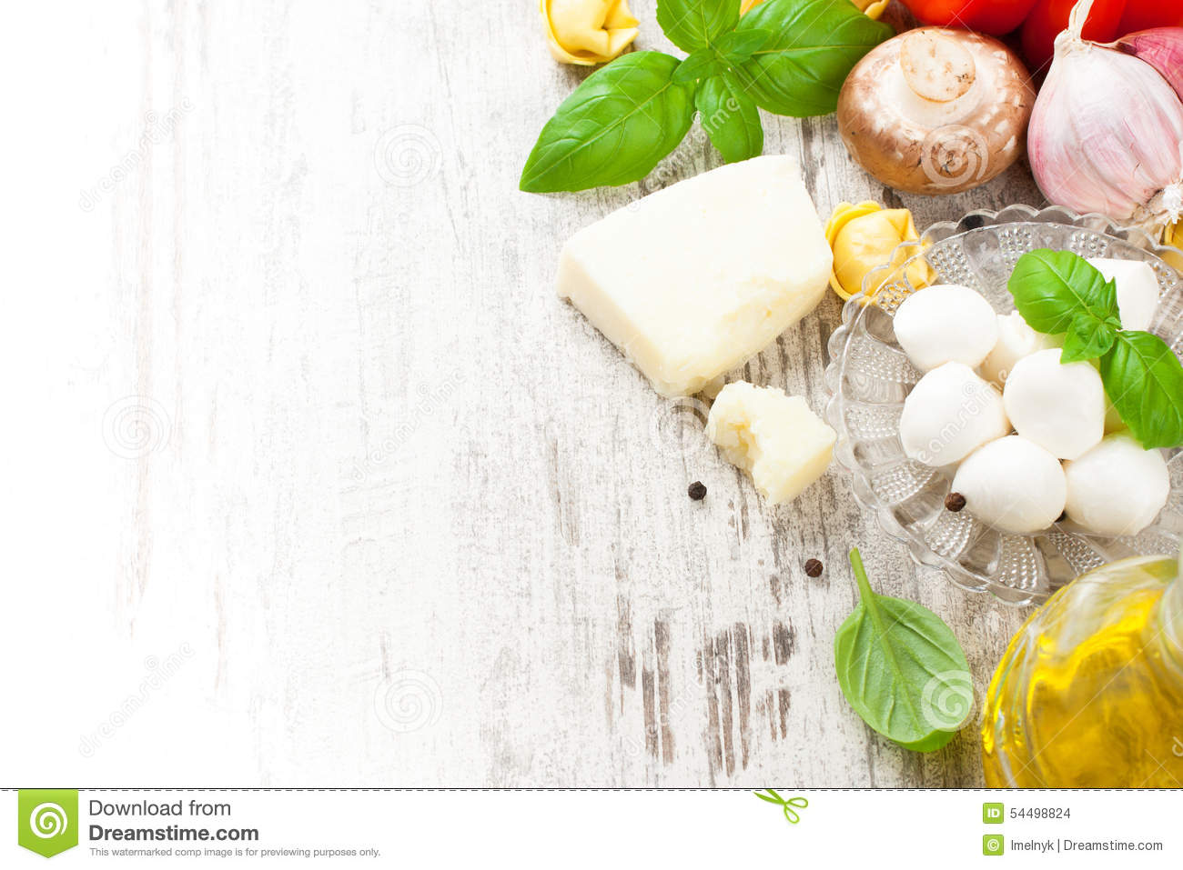 Food Background Italian Food Background Stock Photo  Image 54498824