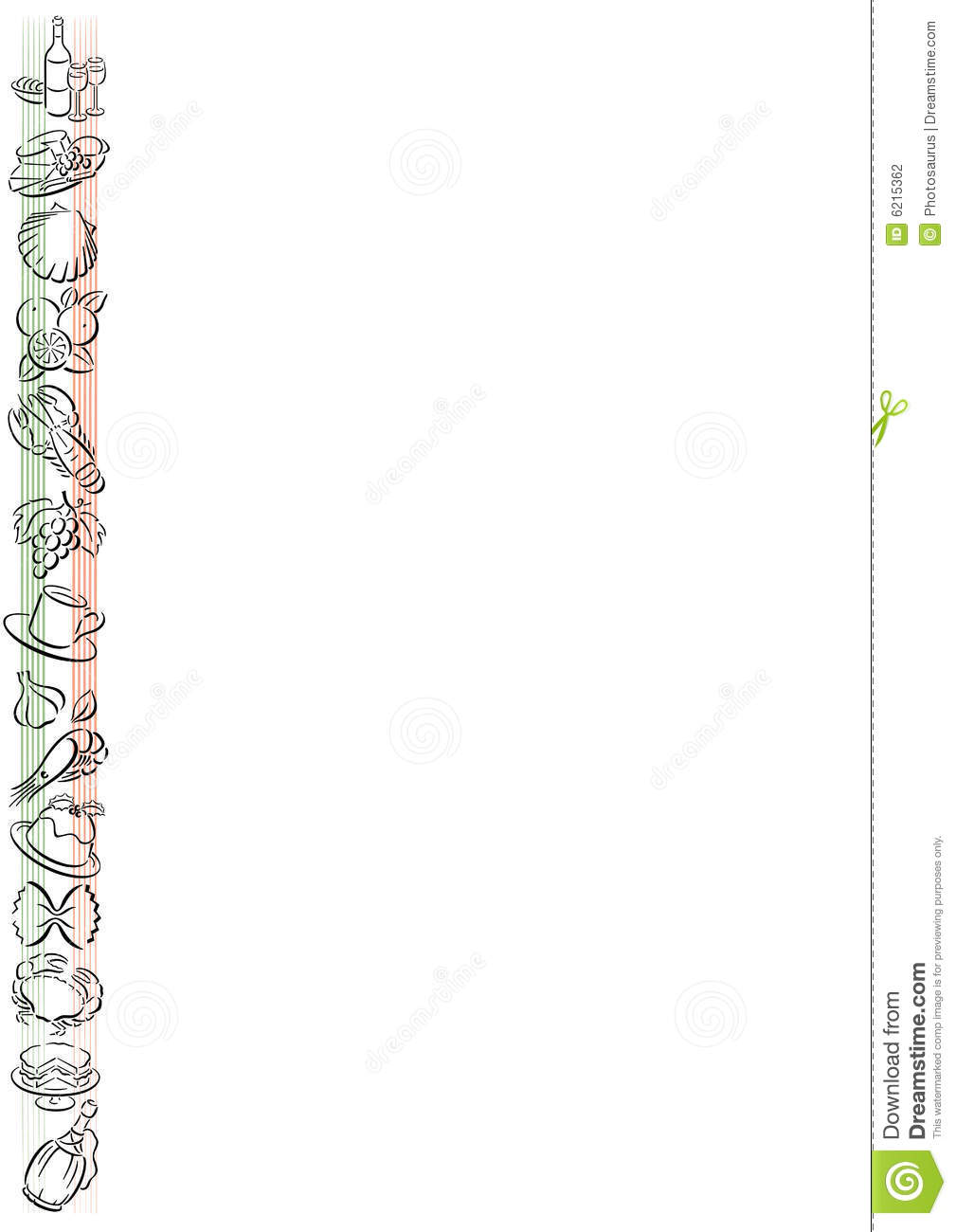 Italian Food Border Stock Vector Image Of Advertising