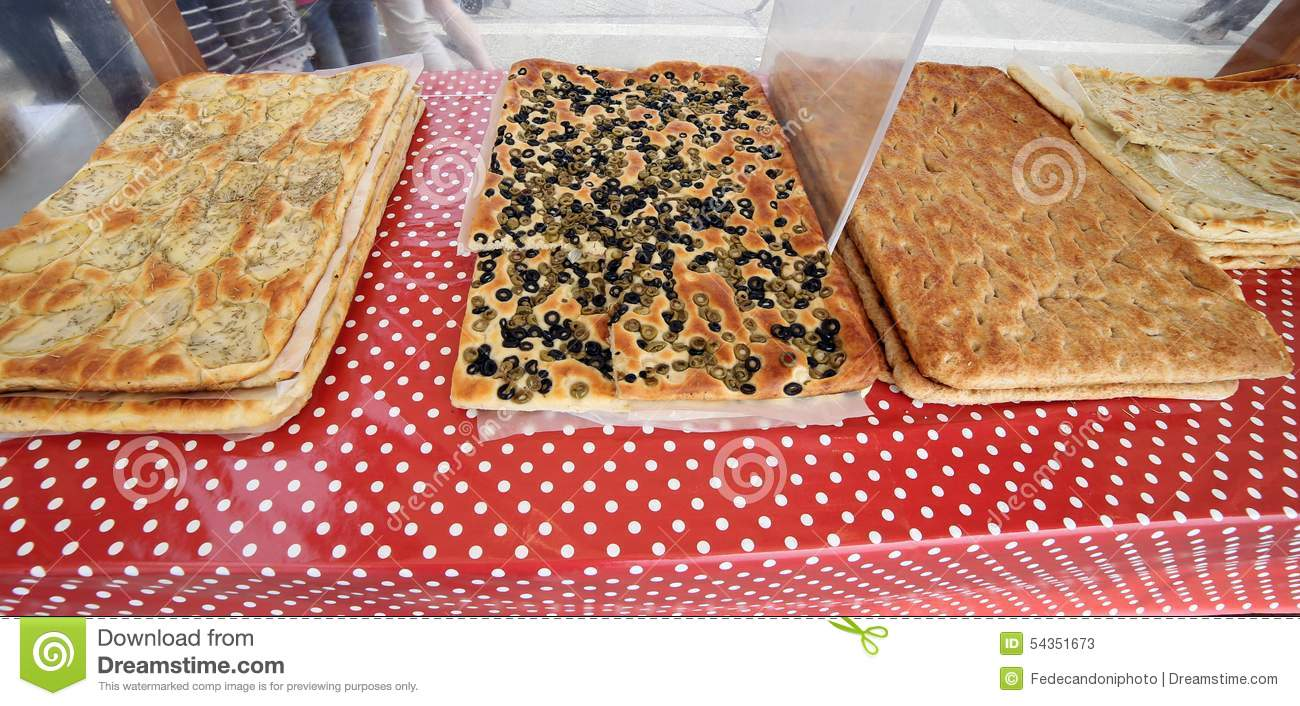 Italian FOOD Bread And Cakes For Sale Stock Image - Image of focacce