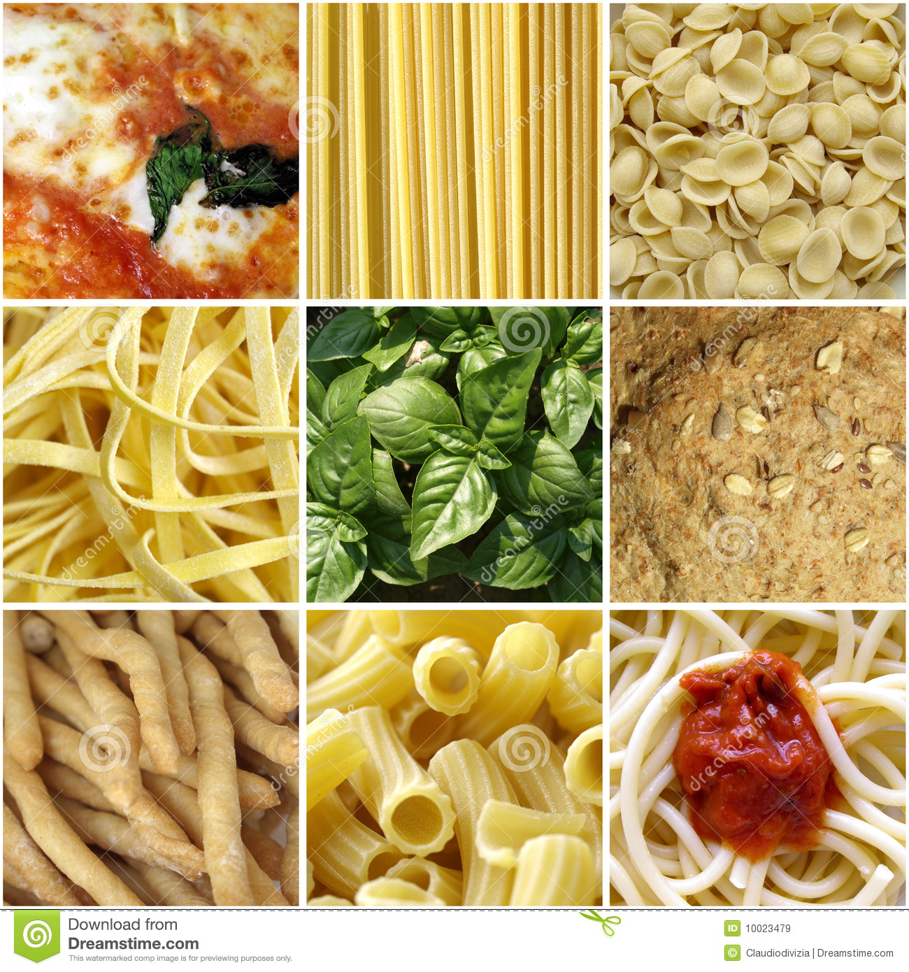 Italian food collage stock image image of natural for Italian cuisine