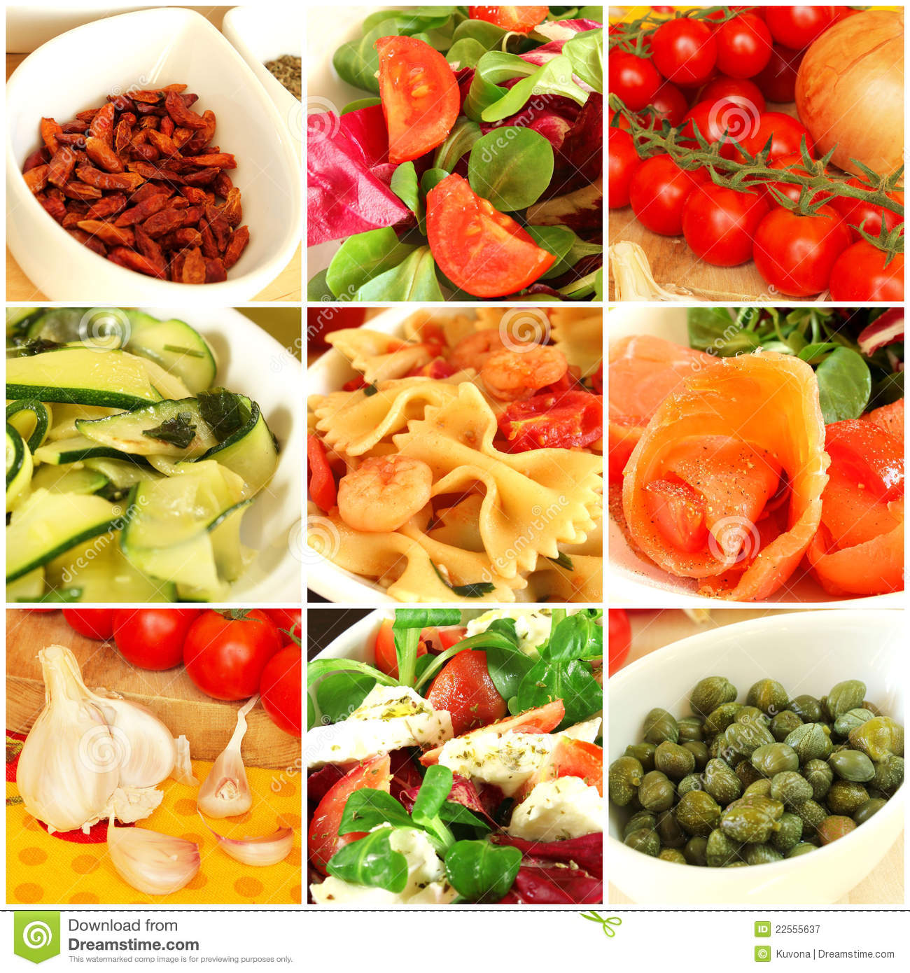 Royalty Free Stock Photography Italian Food Collage Image22555637