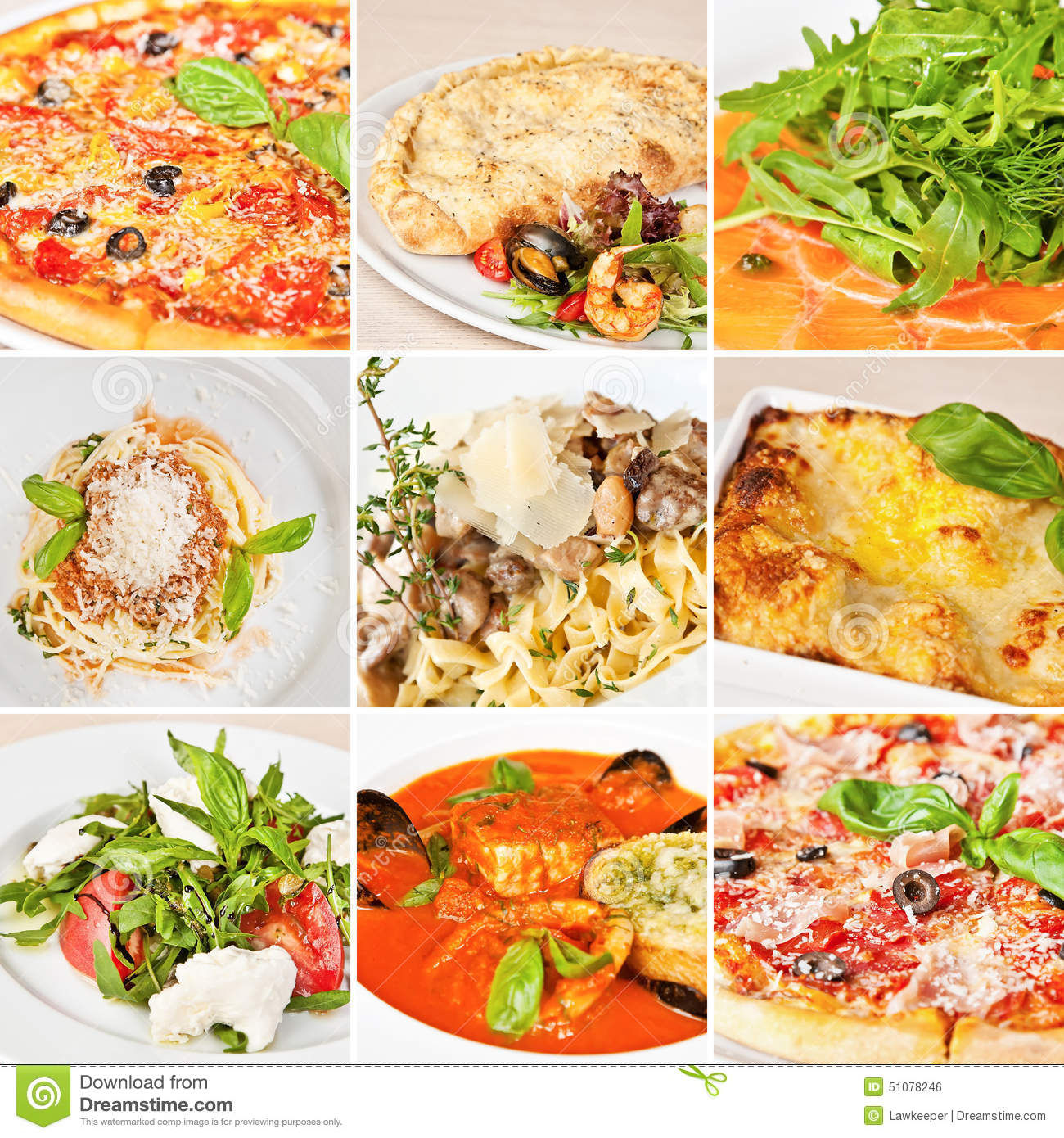 Italian Food Collage Stock Photo - Image: 51078246