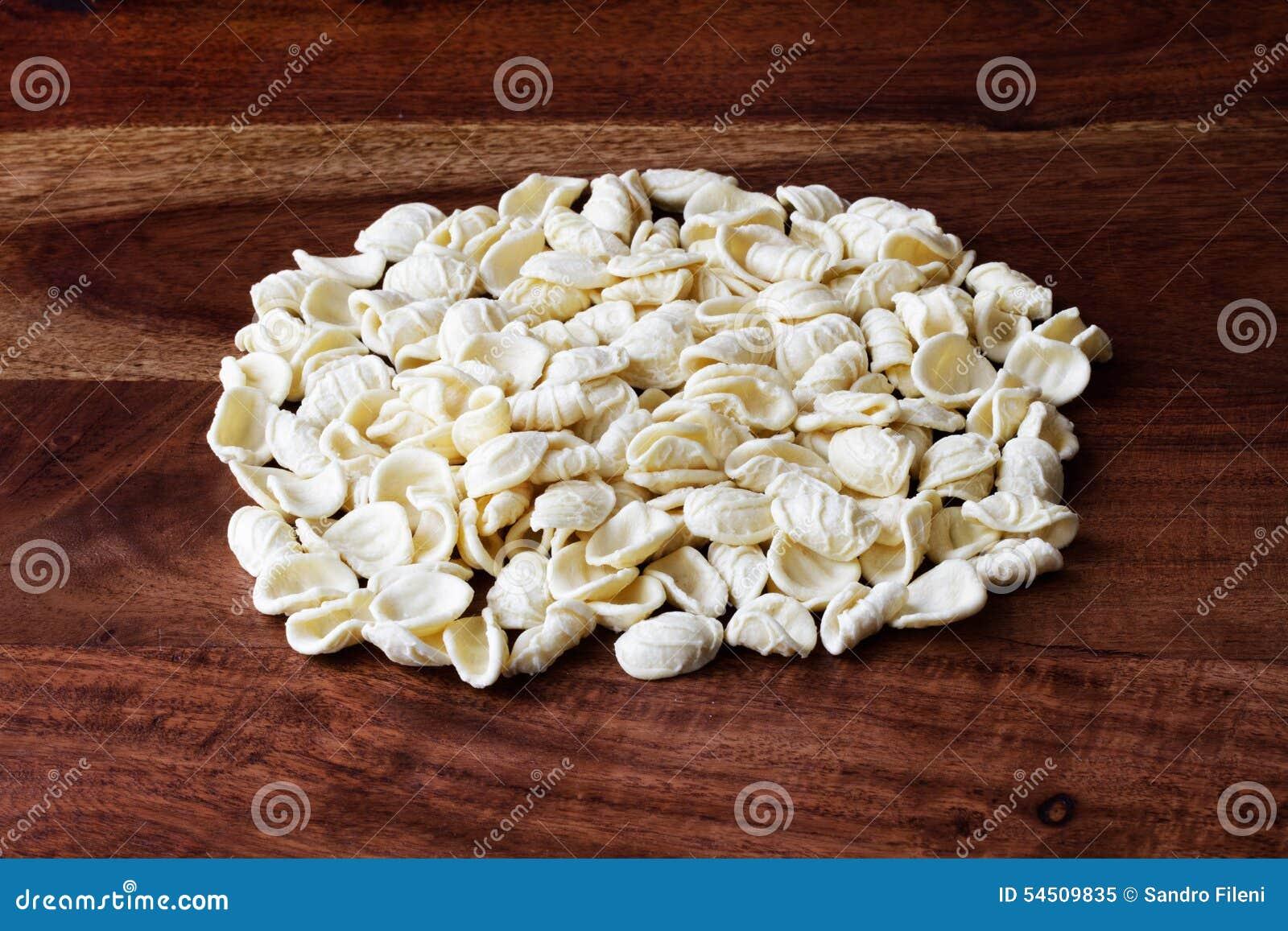 Italian Food Homemade Pasta Orecchiette Stock Image Image Of