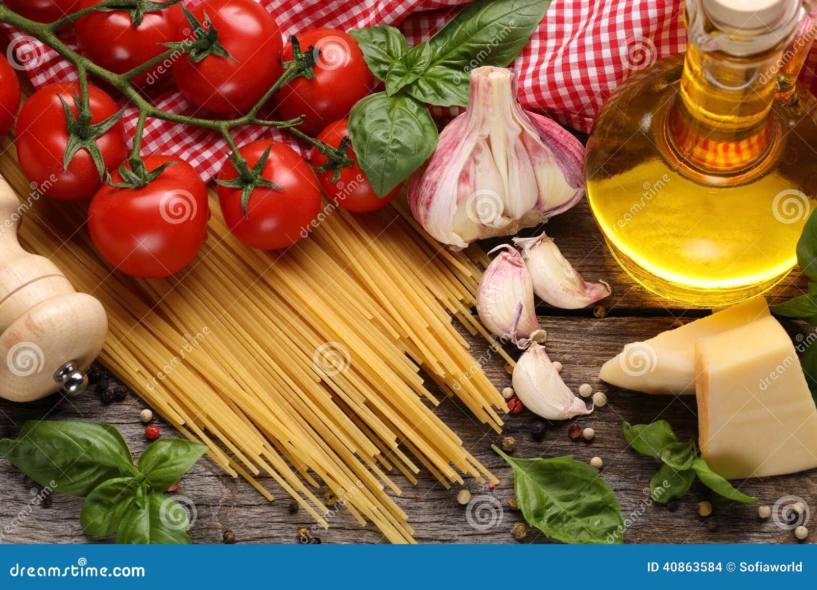 Italian food ingredients stock photo image of food cloth 40863584 italian food ingredients cloth cuisine forumfinder Gallery