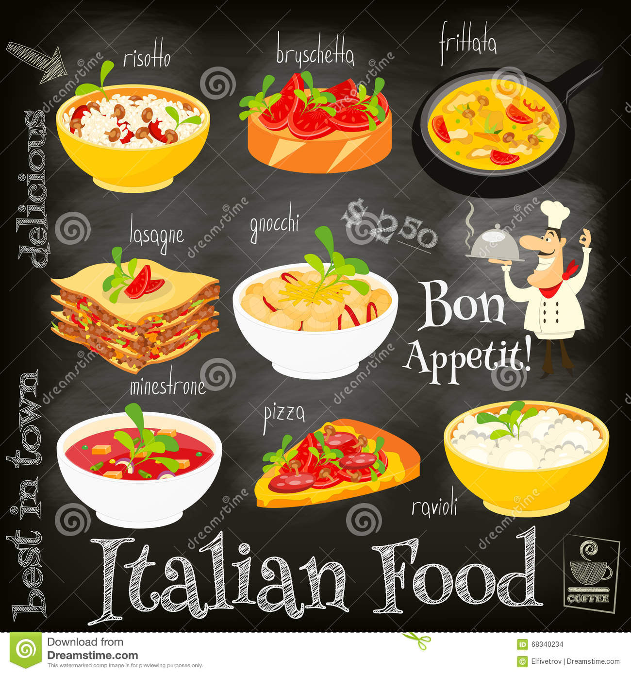 Frittata cartoons illustrations vector stock images for Cooking italian food