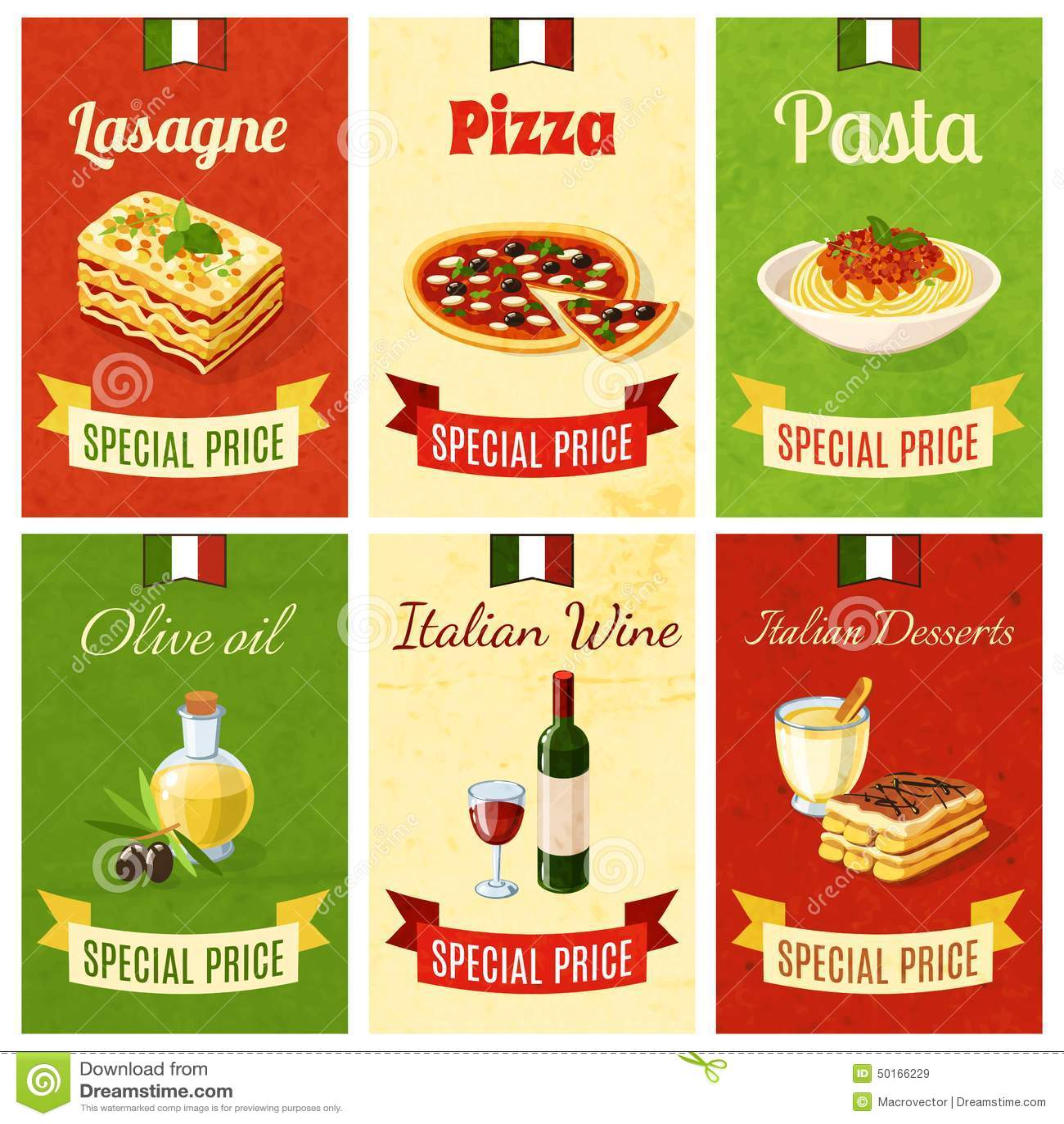Italian Food Mini Poster