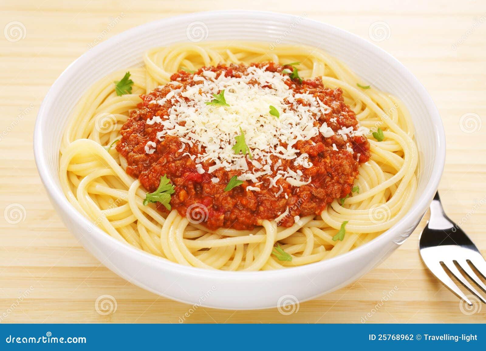 Italian food pasta spaghetti bolognese tabletop stock - Italian cuisine pasta ...