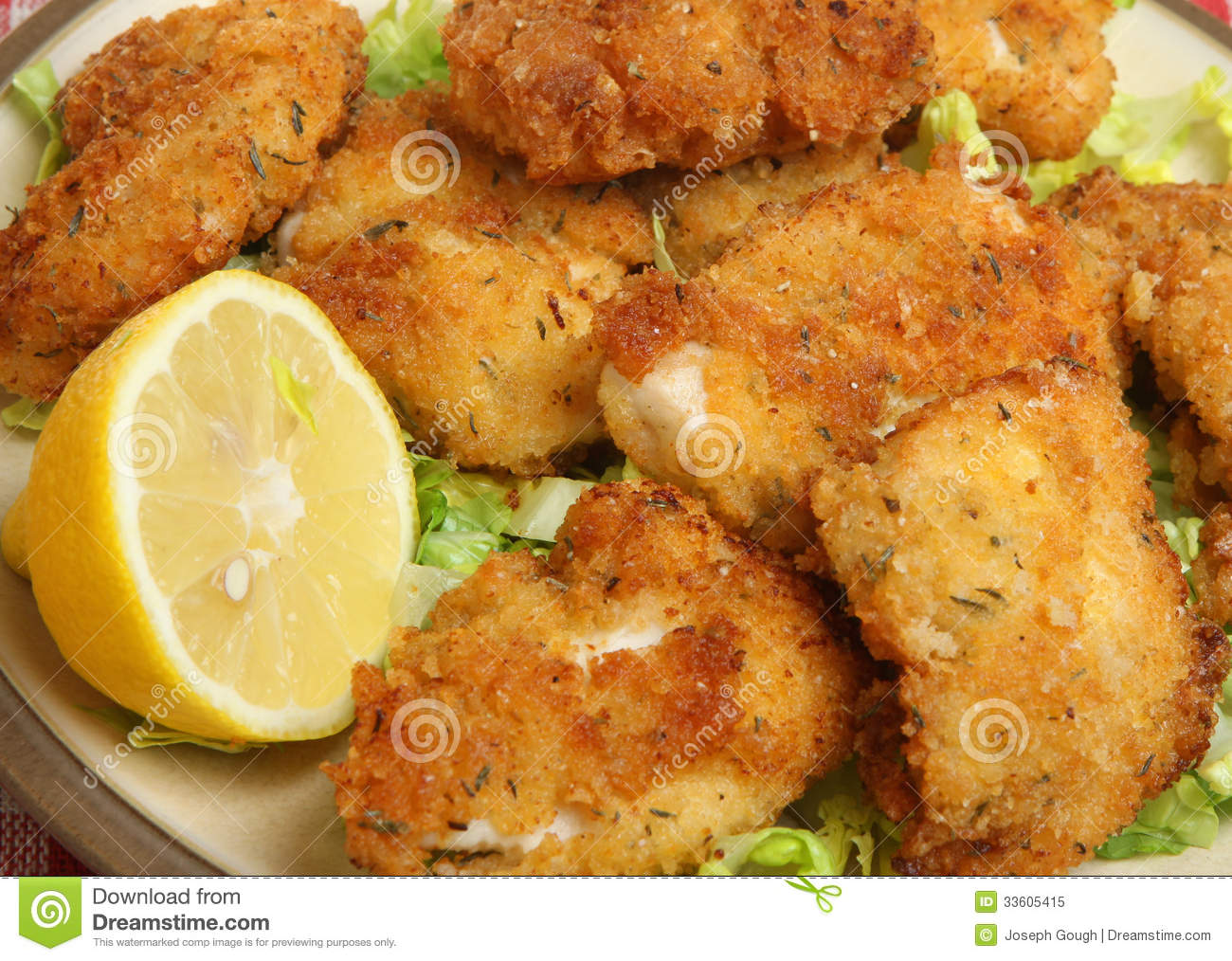 Italian fried chicken fillets with breadcrumbs, parmesan and oregano ...