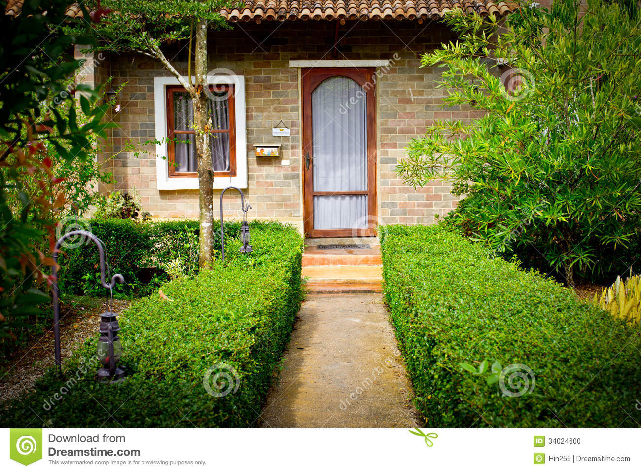 Italian Garden Style Stock Photo Image Of Country