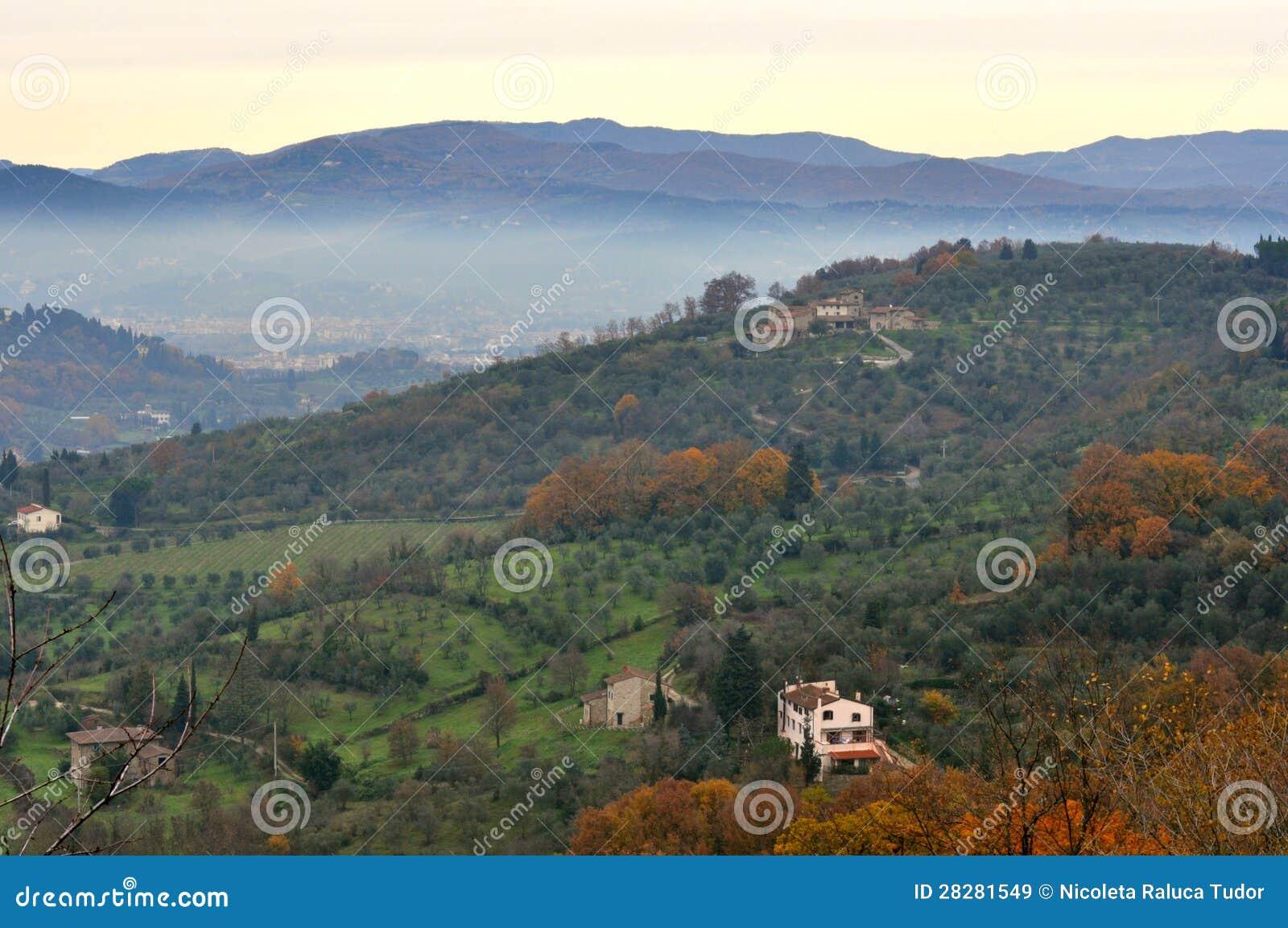 Italian green landscape in tuscany italy stock image for Green italy
