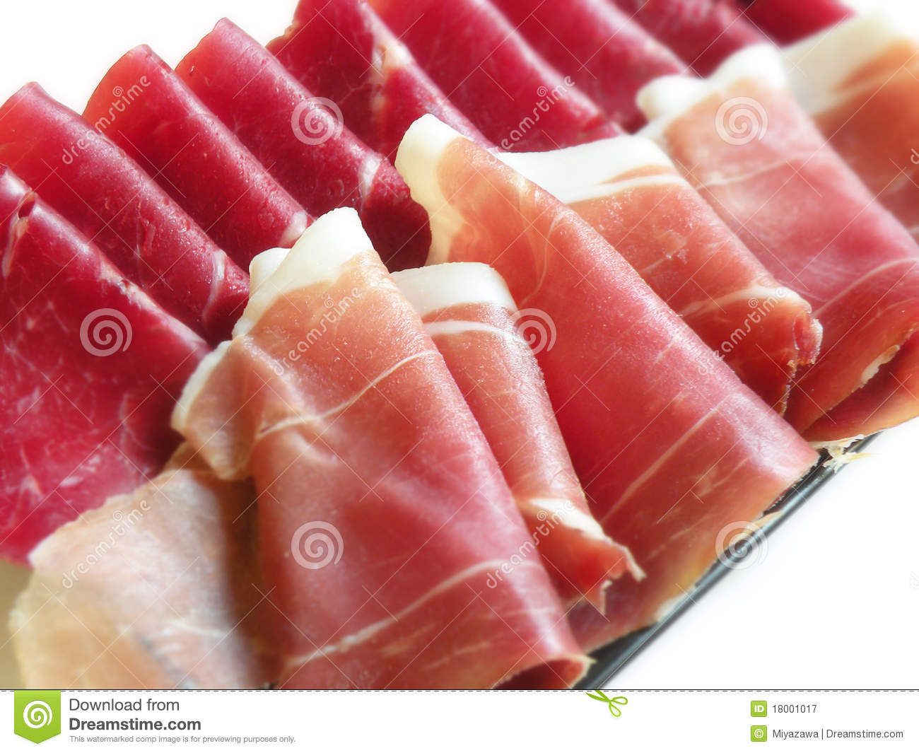 Italian Ham Royalty Free Stock Photography - Image: 18001017