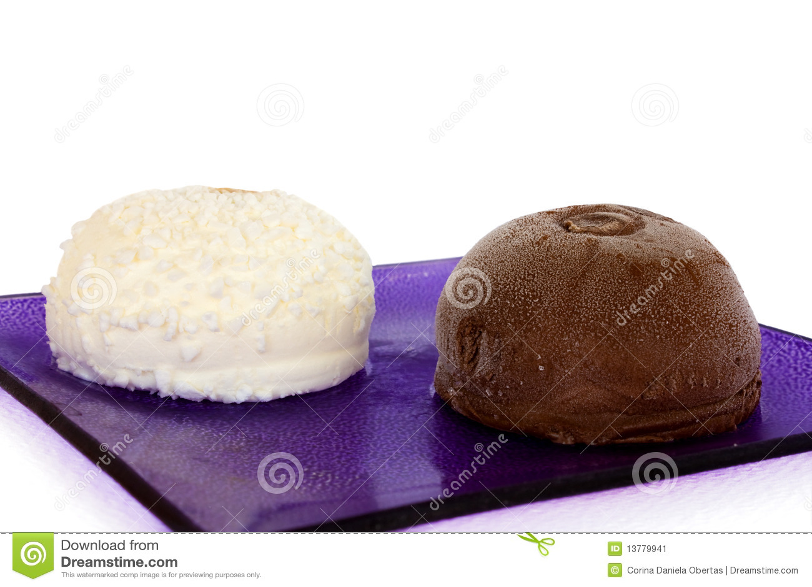 Italian Ice Cream - Truffles Stock Image - Image: 13779941