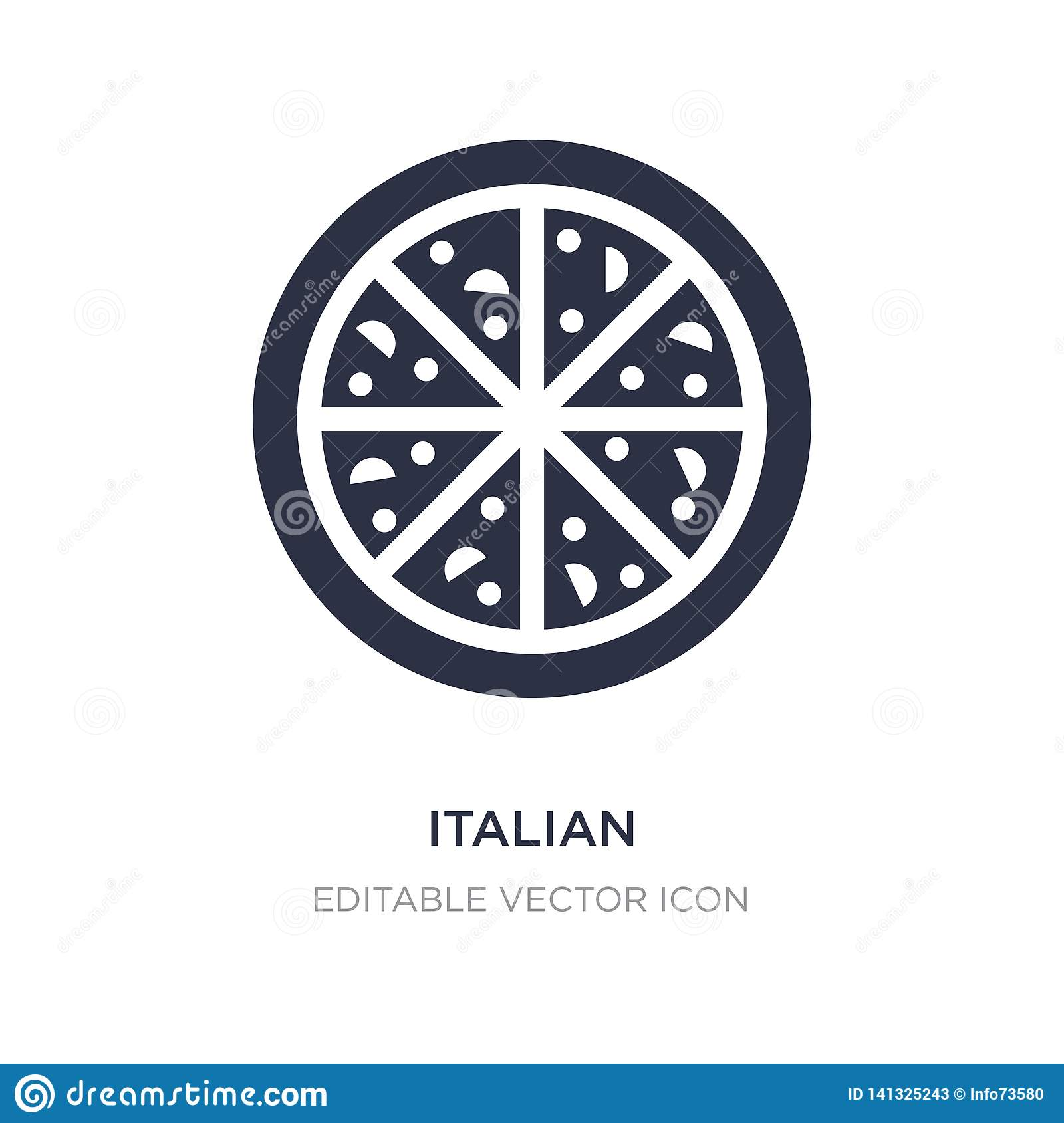italian icon on white background. Simple element illustration from Food concept
