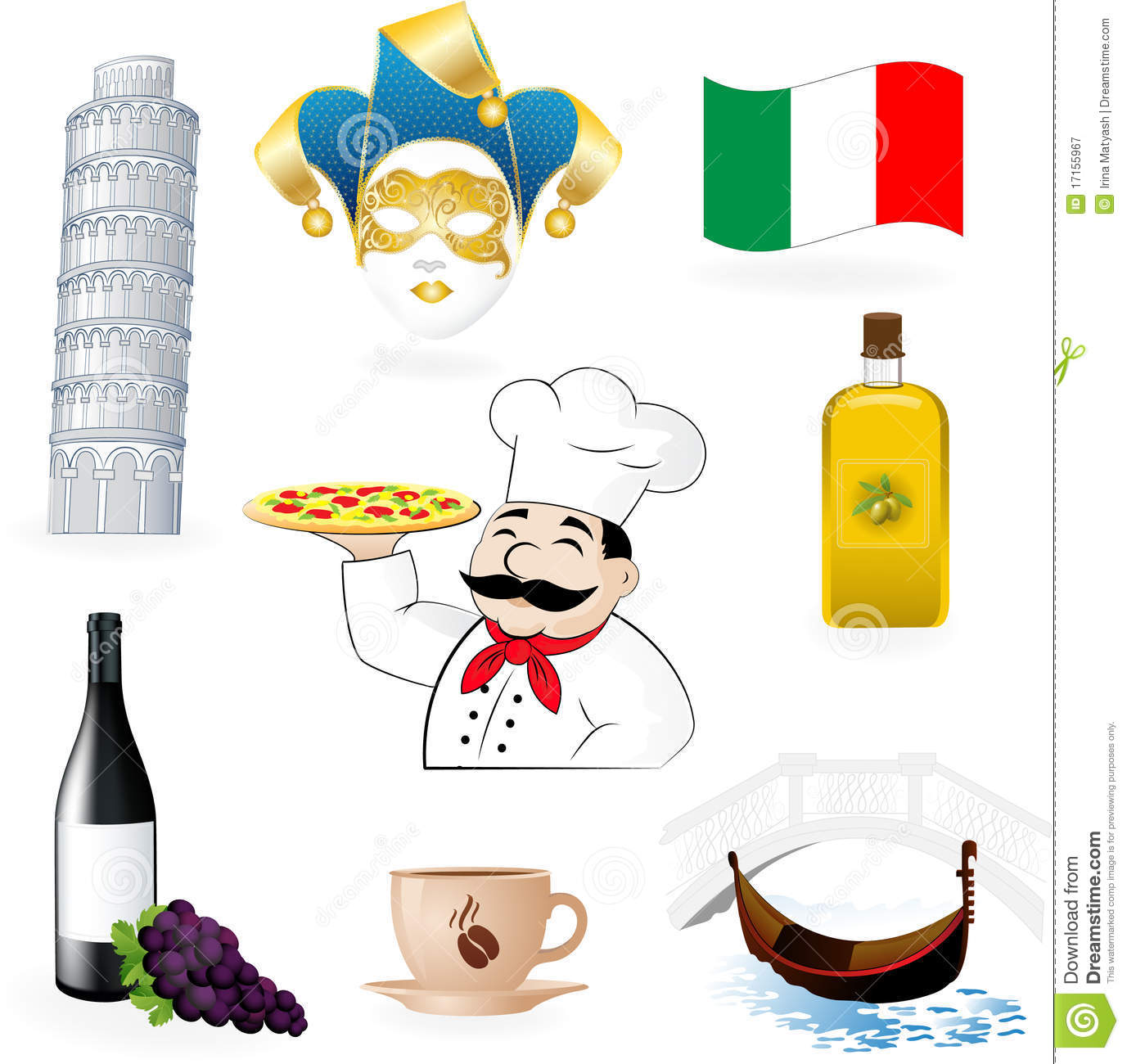 The Italian Icons Royalty Free Stock Photography - Image: 17155967