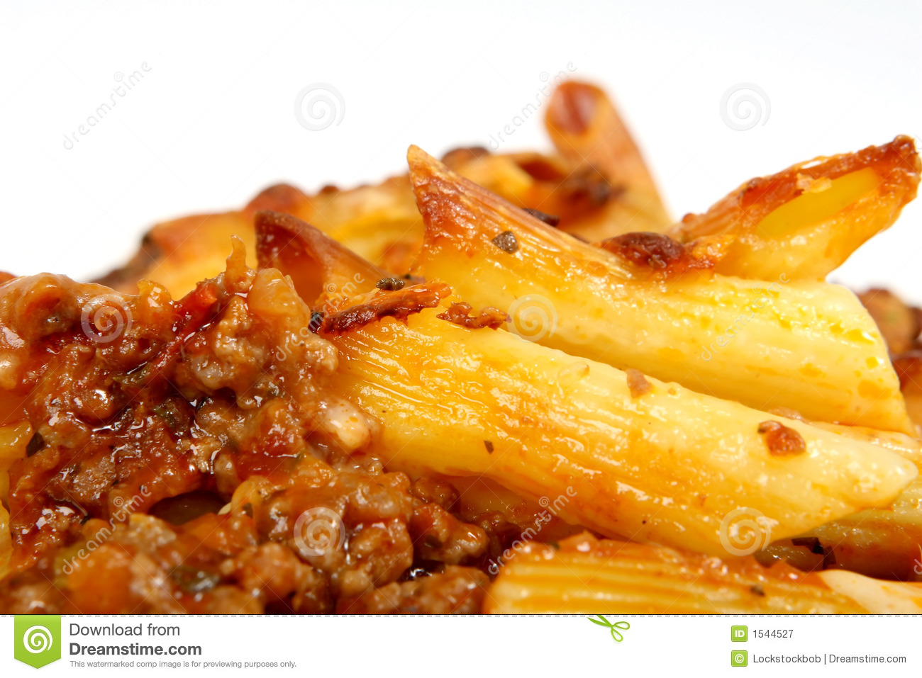 Italian Lasagne, Mince Meat With Pasta Cheese Sauce Royalty Free Stock ...