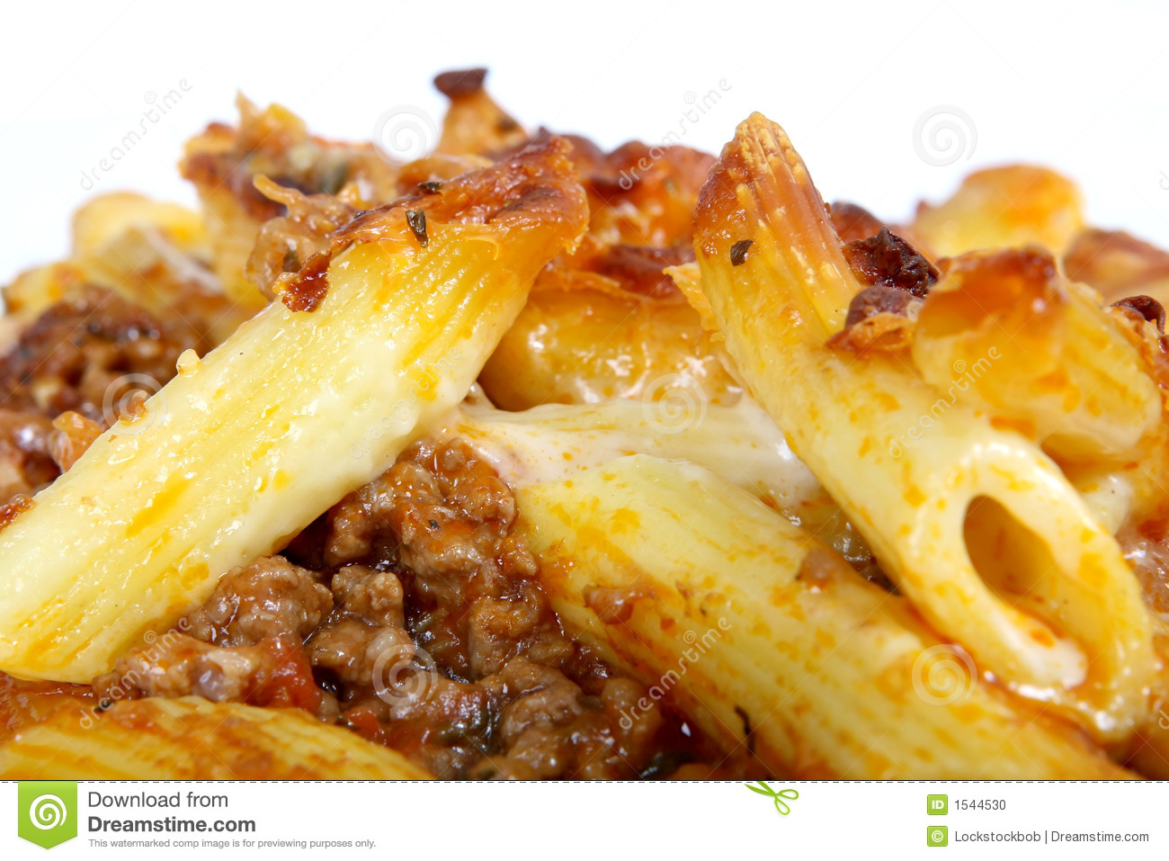 Pasta with minced meat and cheese sauce 51