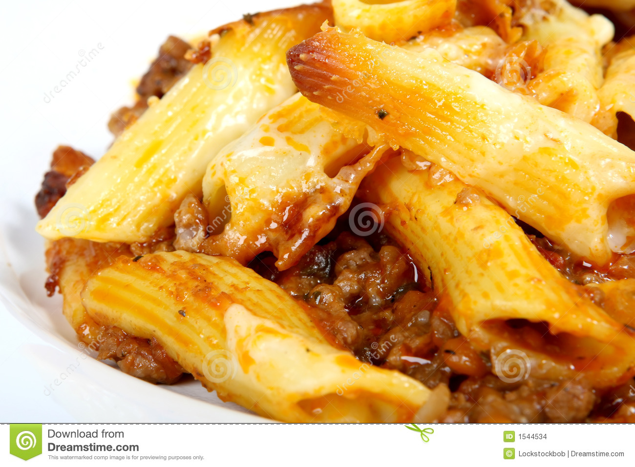 Italian lasagne, mince meat with pasta and cheese sauce, macro closeup ...