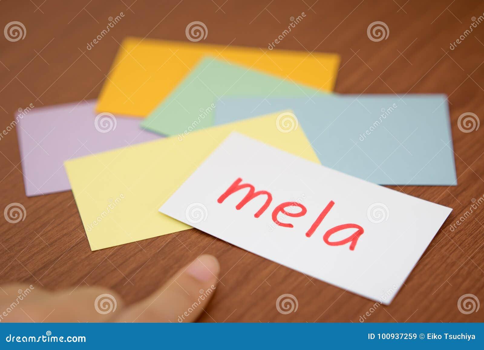 Italian Language Translation To English: Italian; Learning New Language With The Flaish Card